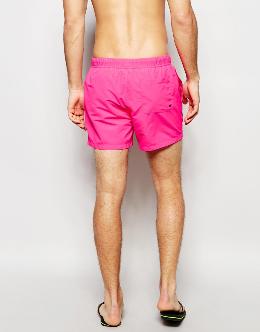 f8e98cd99b ASOS Swim Shorts 2 Pack In Neon Pink And Black In Short Length Save ...
