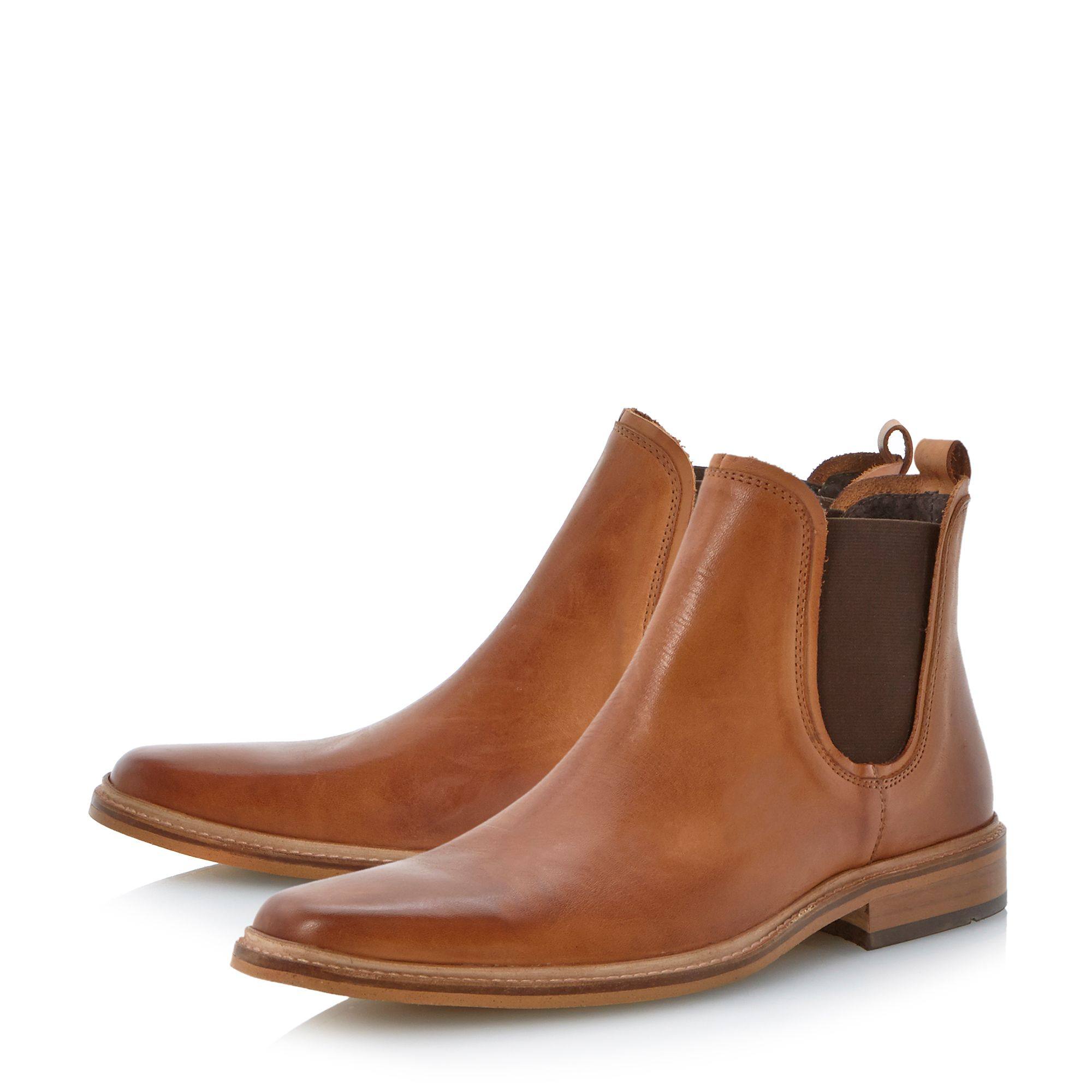 dune manderin square toe chelsea boots in brown for men lyst. Black Bedroom Furniture Sets. Home Design Ideas