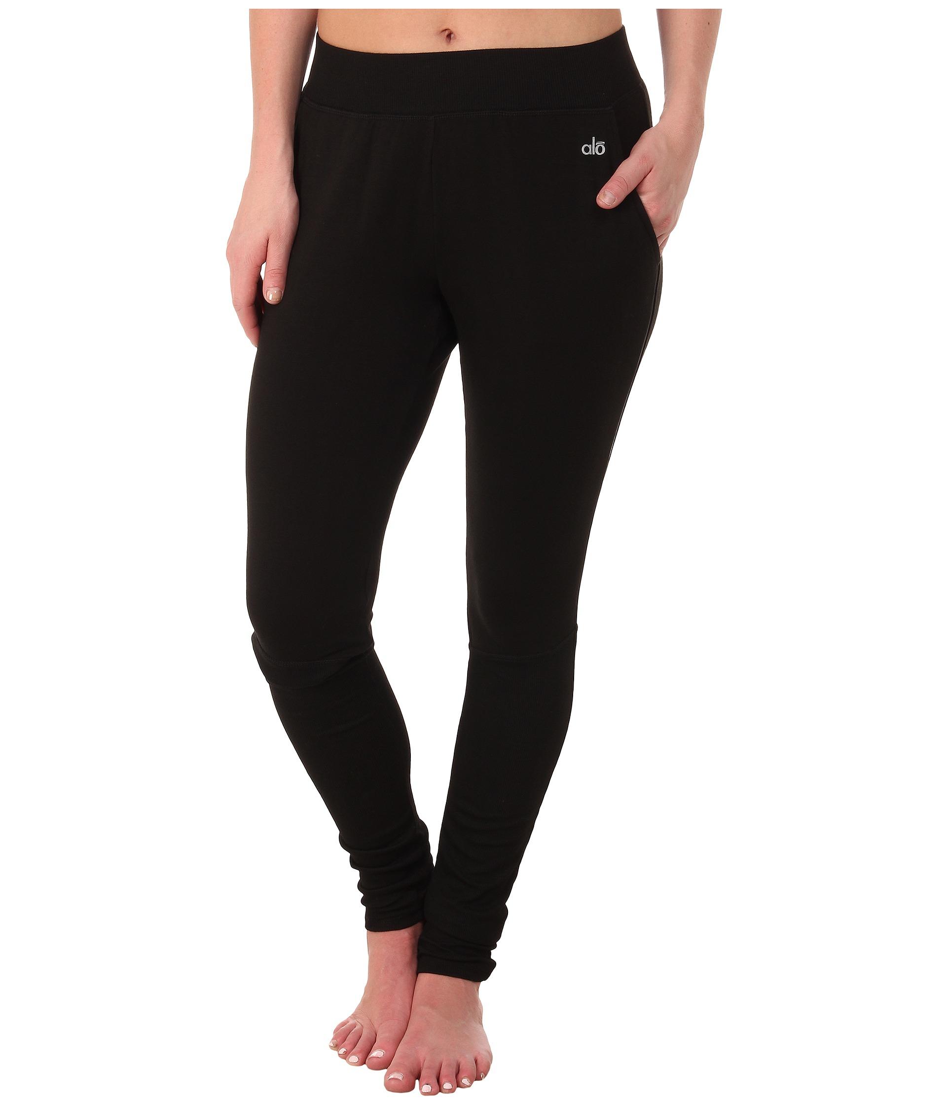 82d91e5703823 Alo Yoga Yen Sweatpants in Black - Lyst