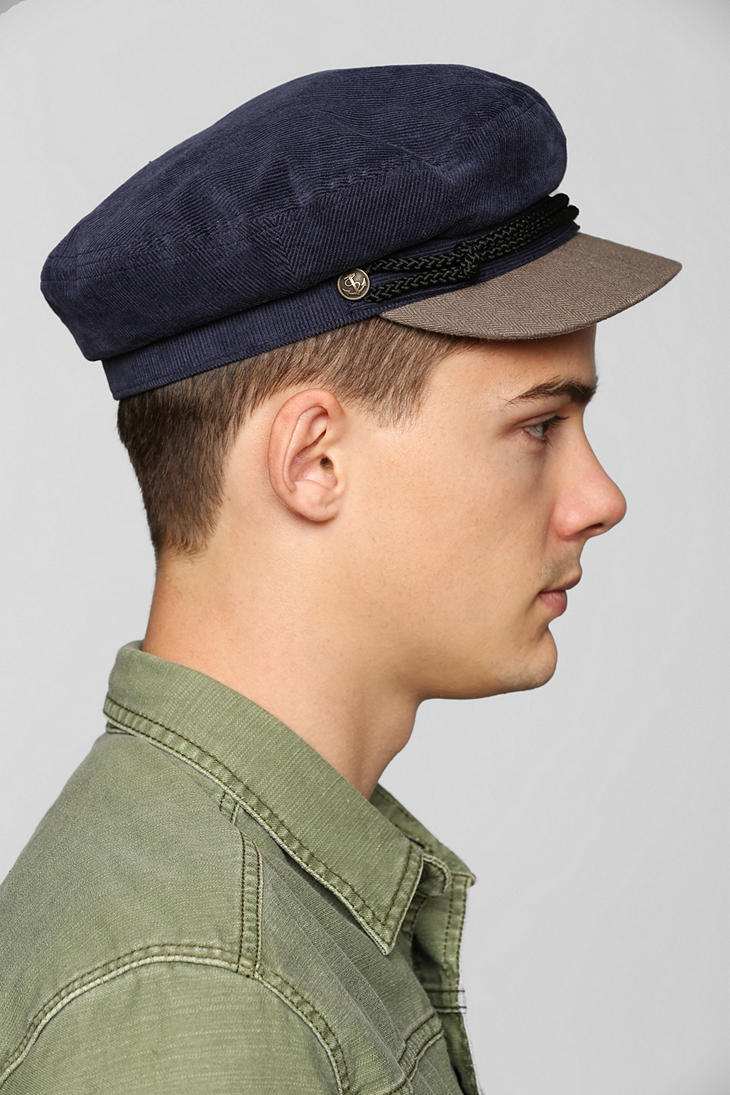 3682970dc0b6c Urban Outfitters Brixton Fiddler Fisherman Cap in Blue - Lyst