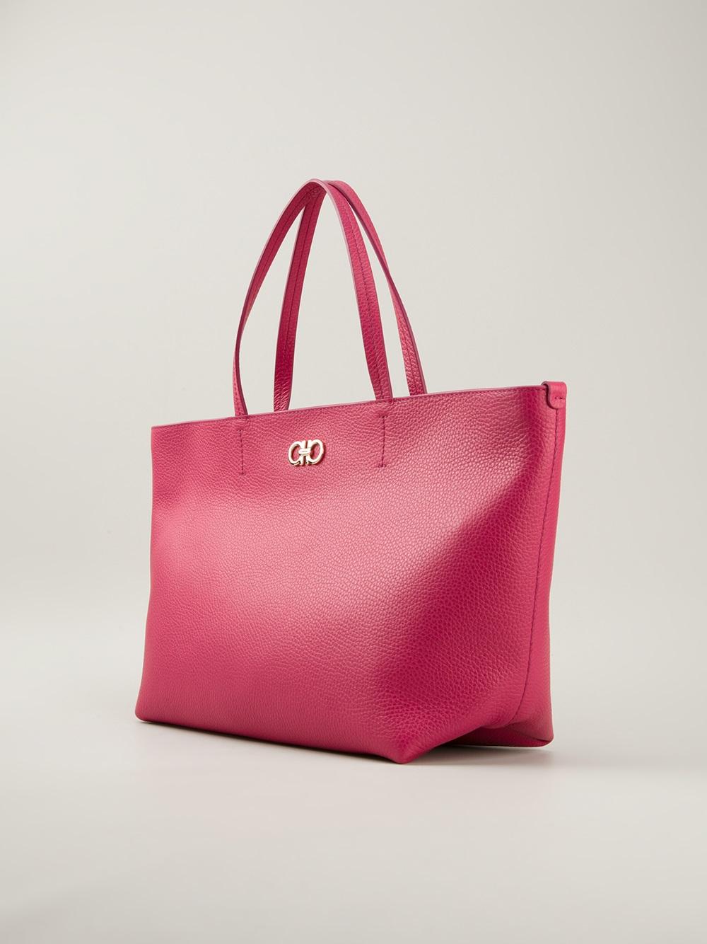 Lyst - Ferragamo Classic Shopper Tote in Pink 36aa8564fa7bb