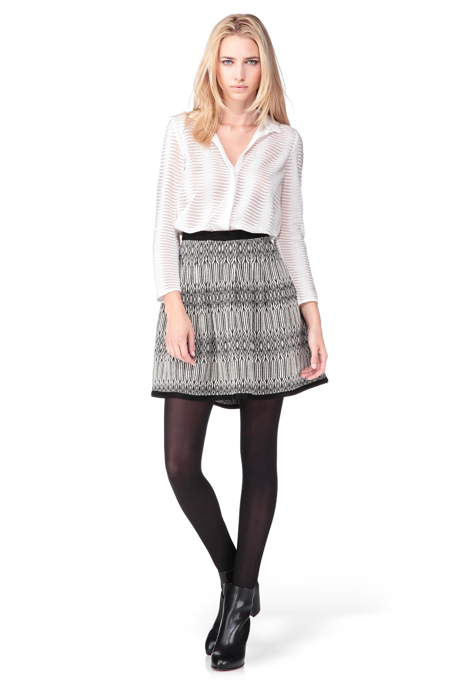 ba sh mini skirt in white lyst