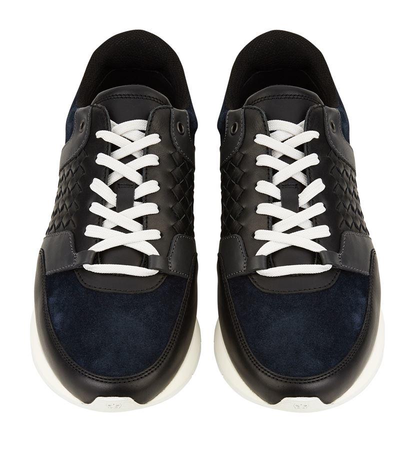 Bottega veneta Woven Running Sneaker in Black for Men