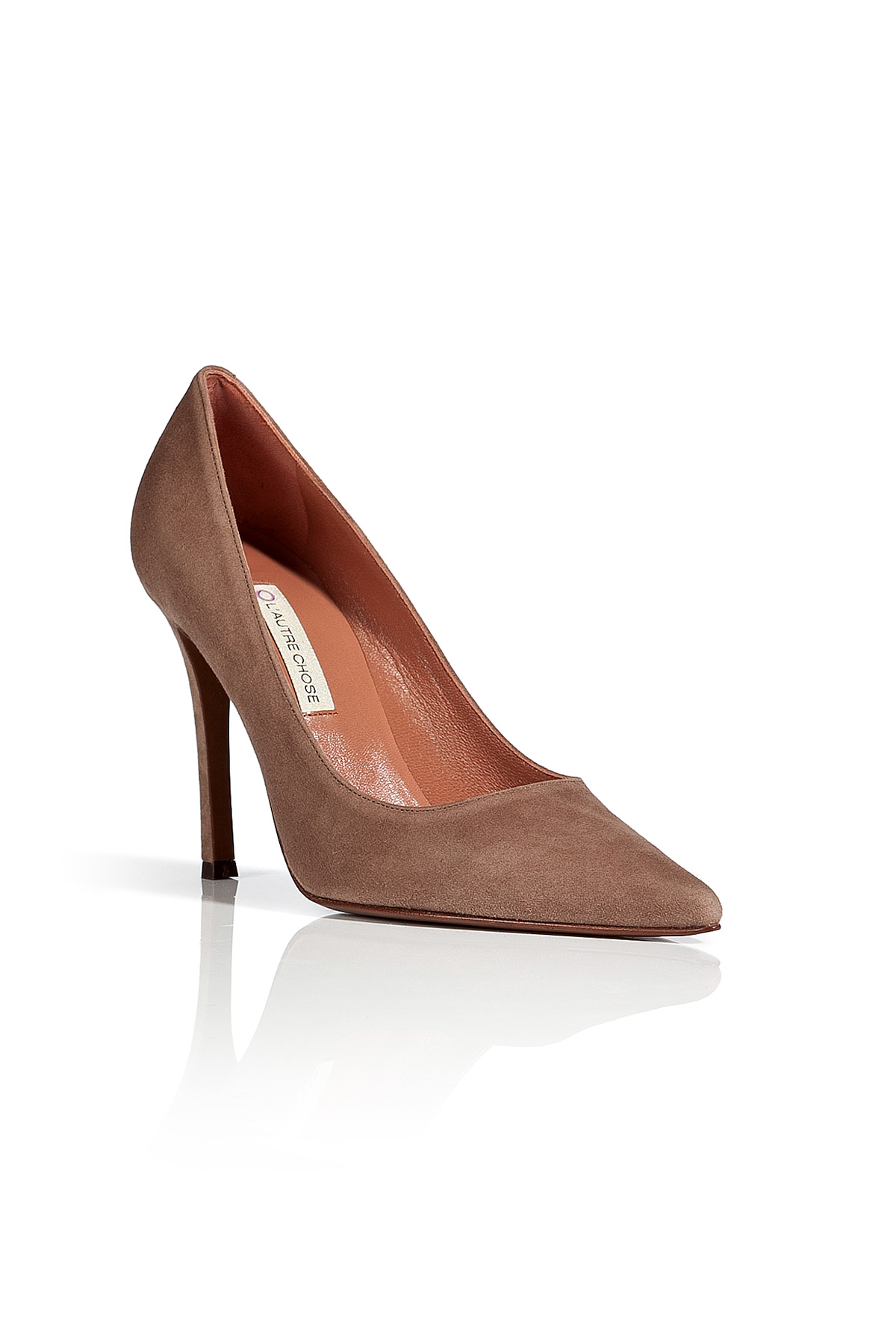 l 39 autre chose suede pointy toe pumps in beige lyst. Black Bedroom Furniture Sets. Home Design Ideas
