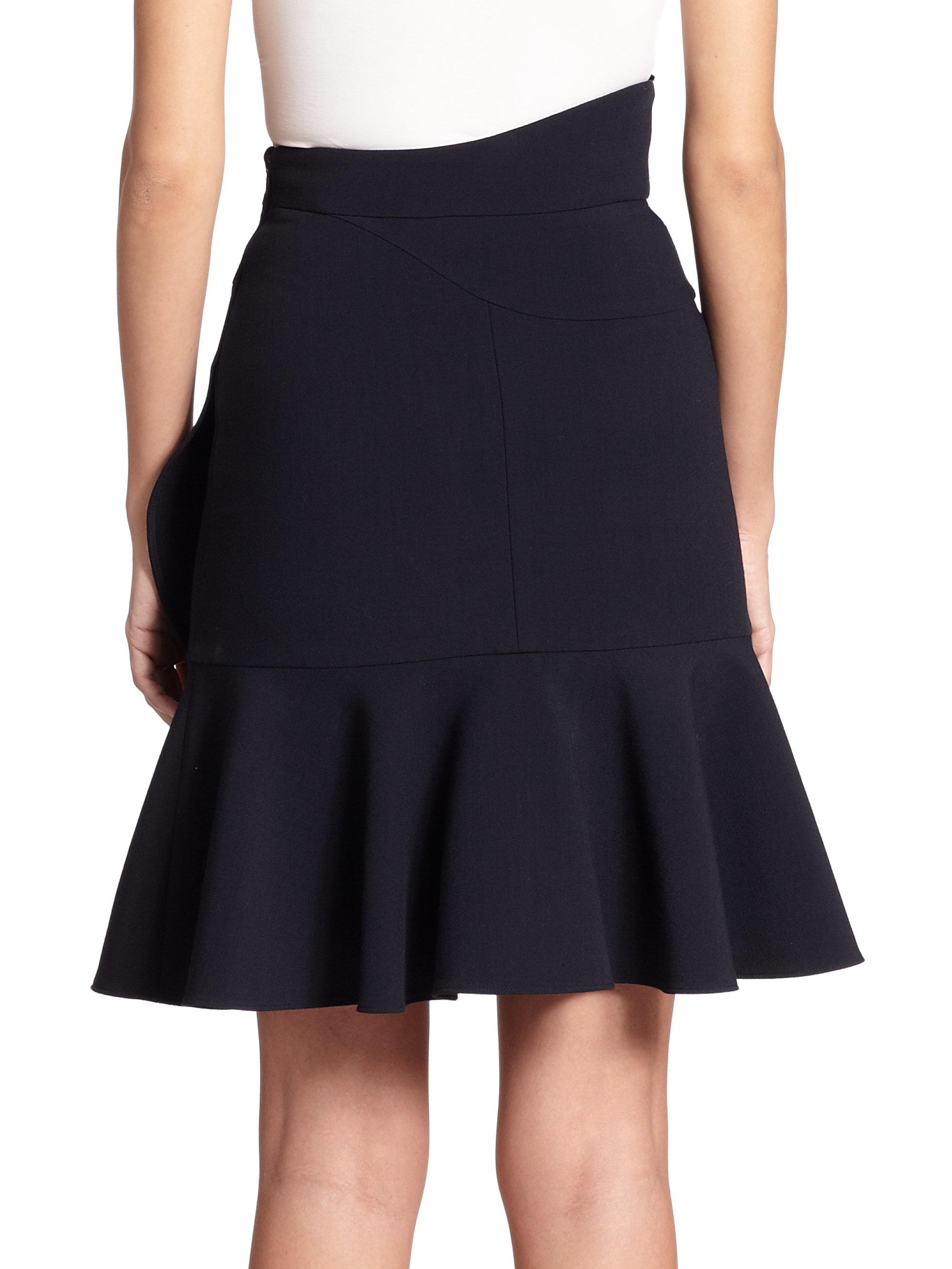 mcqueen layered ruffle skirt in blue lyst