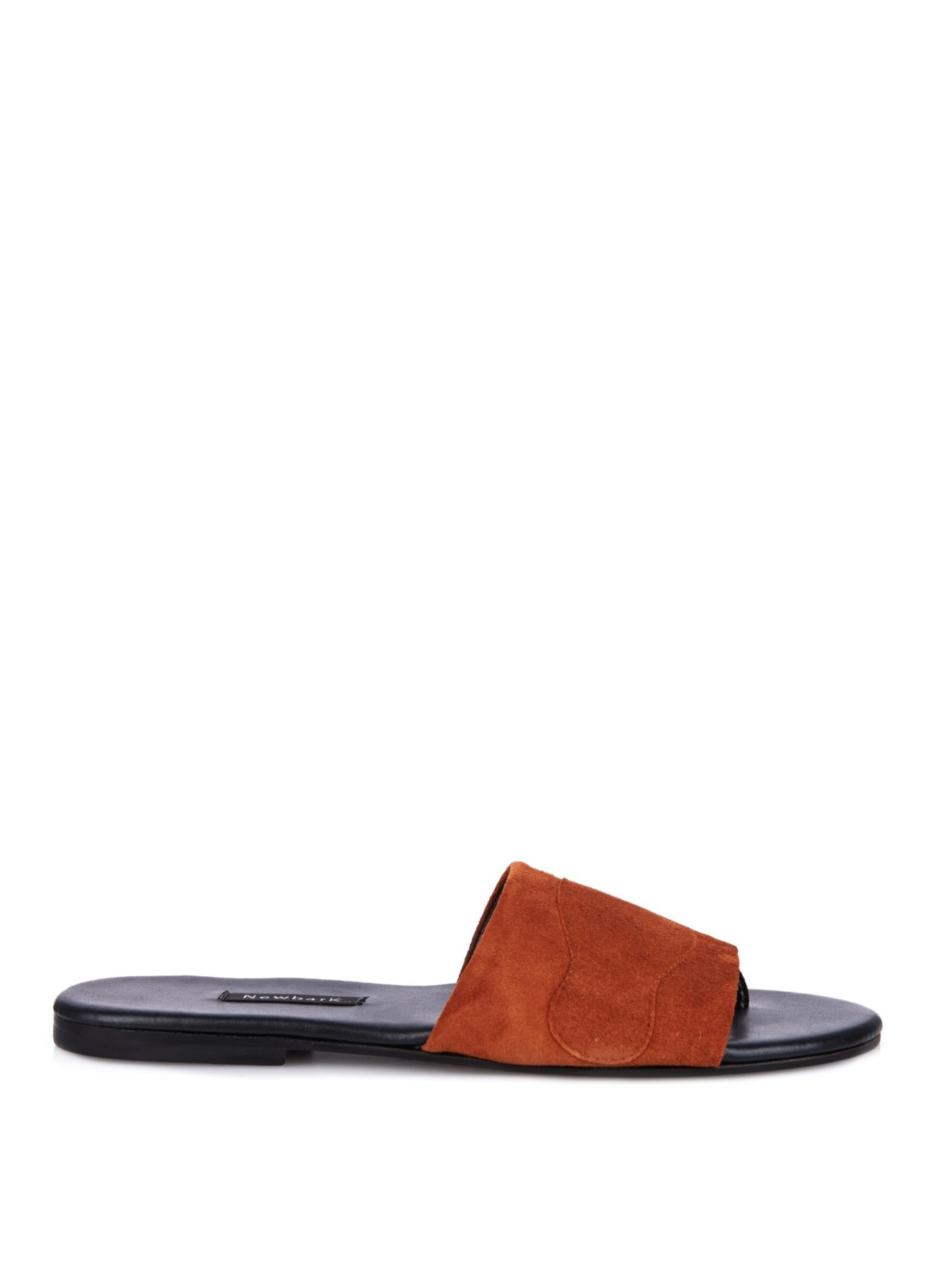 Newbark Roma Ii Suede Sandals in Brown