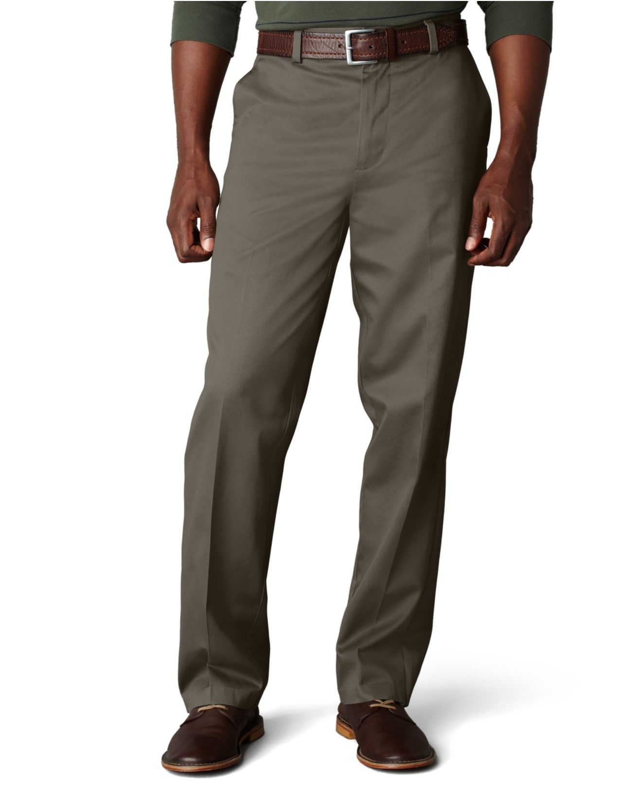 Dockers Signature Khaki Classic Fit Flat Front Pants in ...