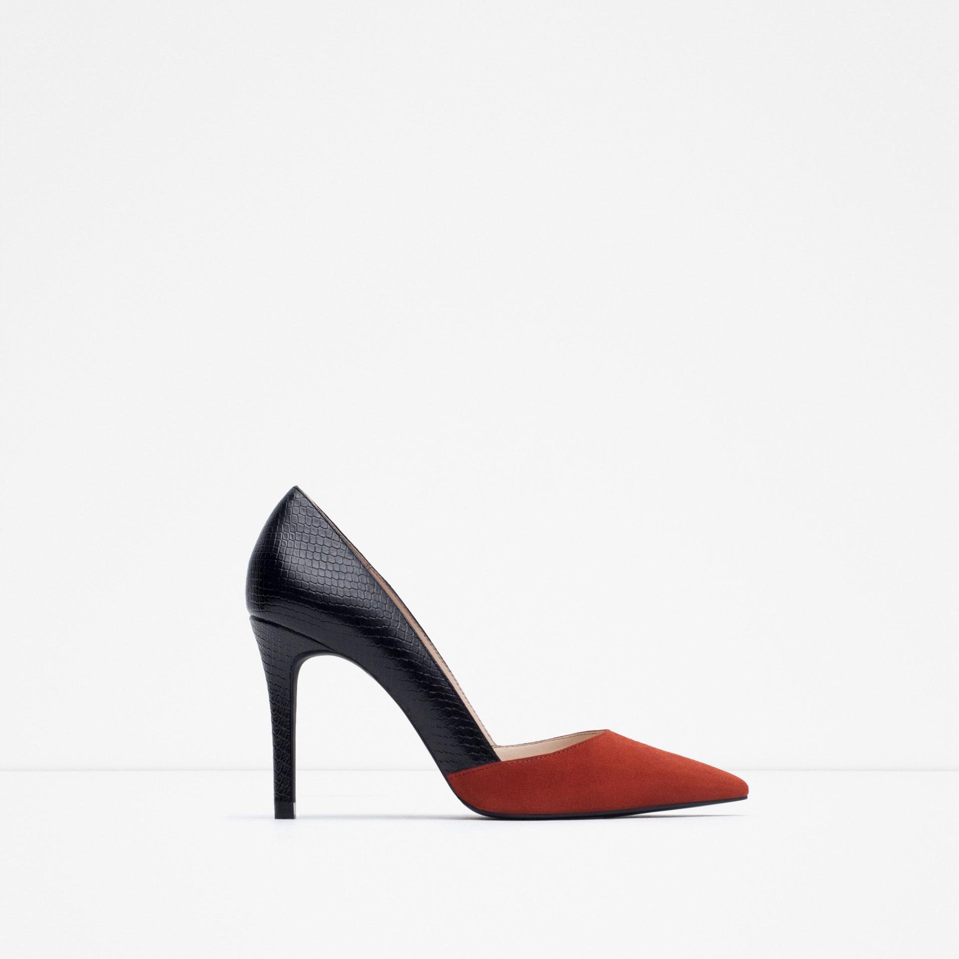 7167076e Mid Heel Shoes: Mid Heel Court Shoes Zara