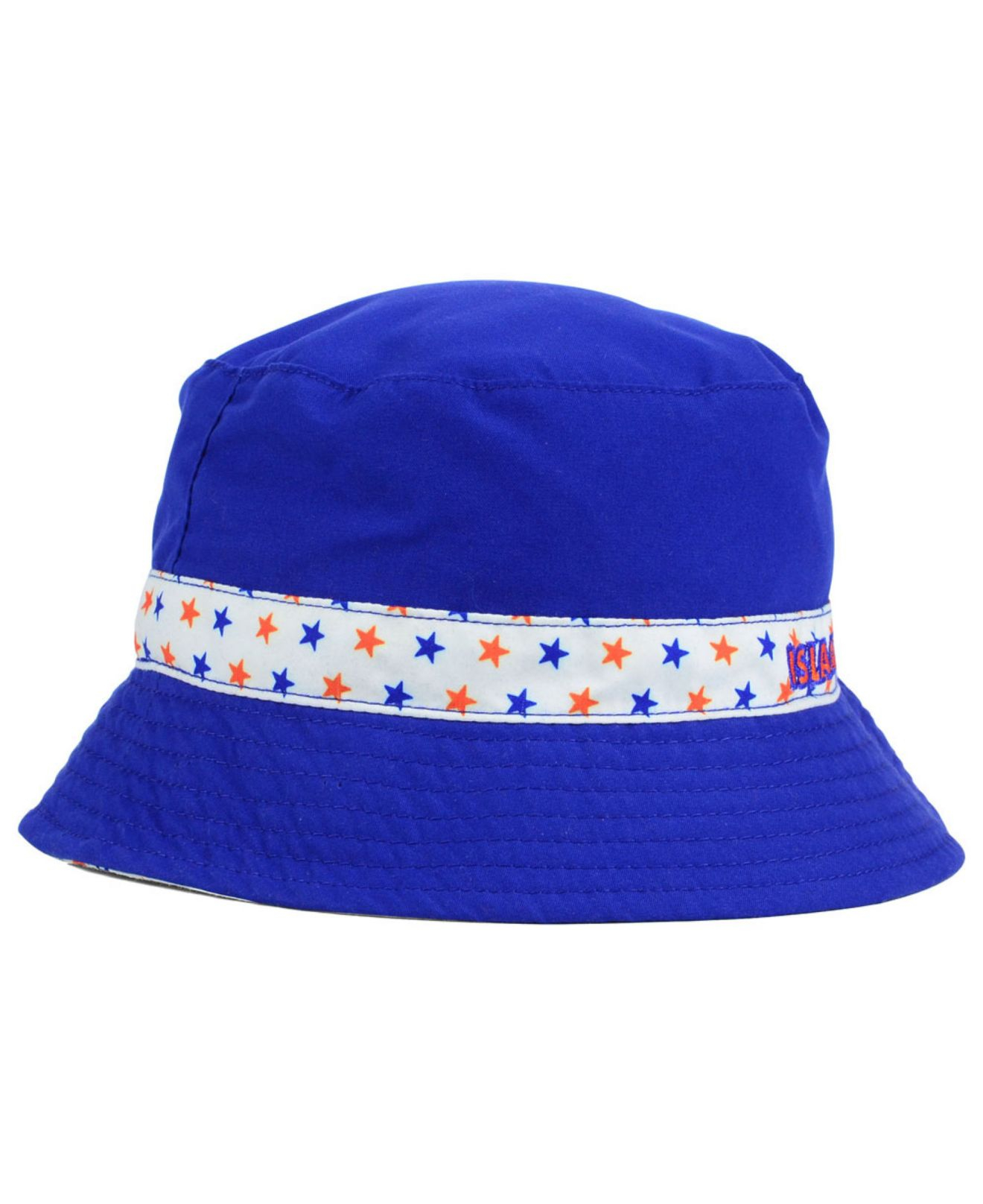92a912fe7a3 ... spain lyst ktz kids new york islanders reversible bucket hat in blue  206fa f900a