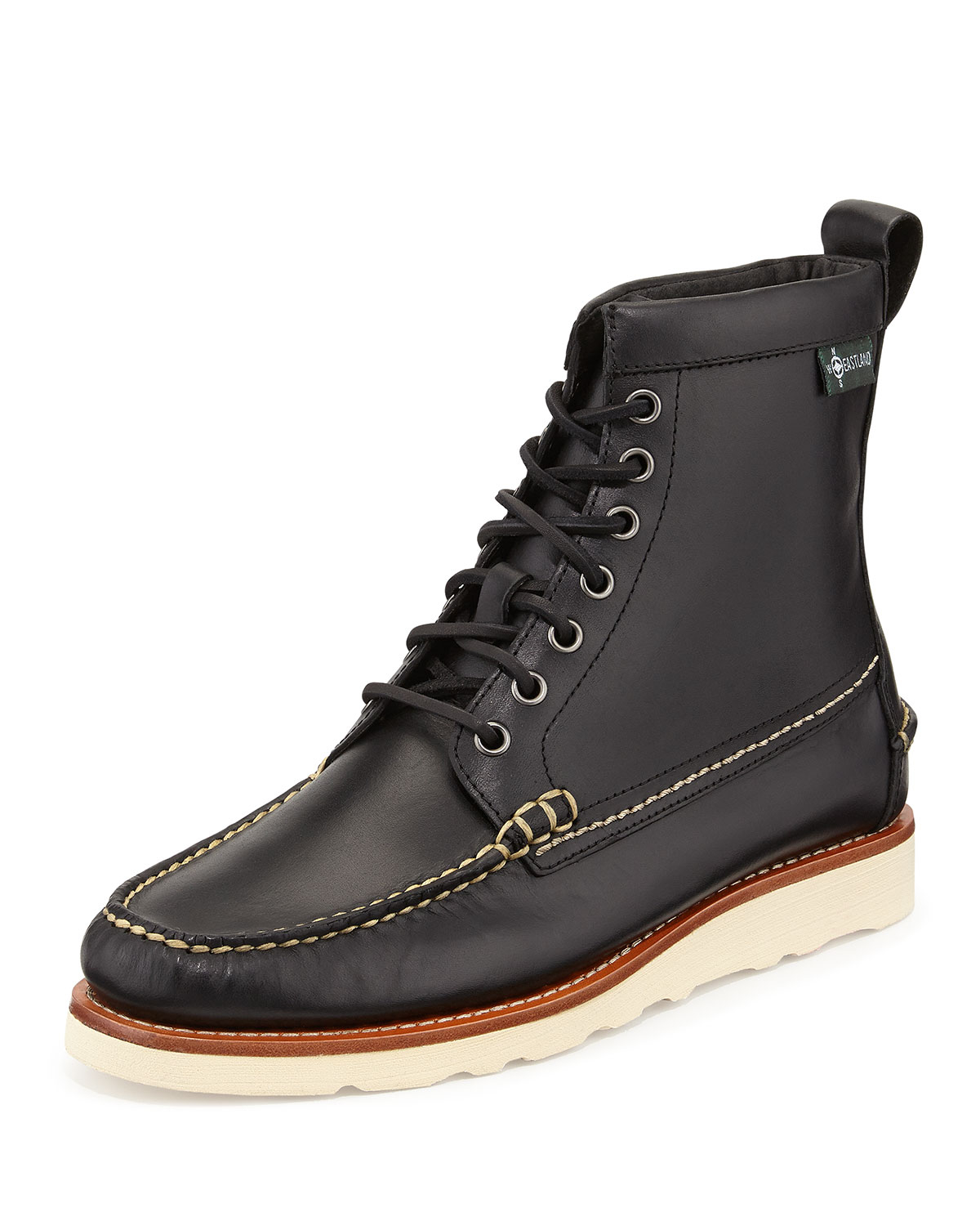 Eastland 1955 Edition Sherman 1955 Leather Boot In Black