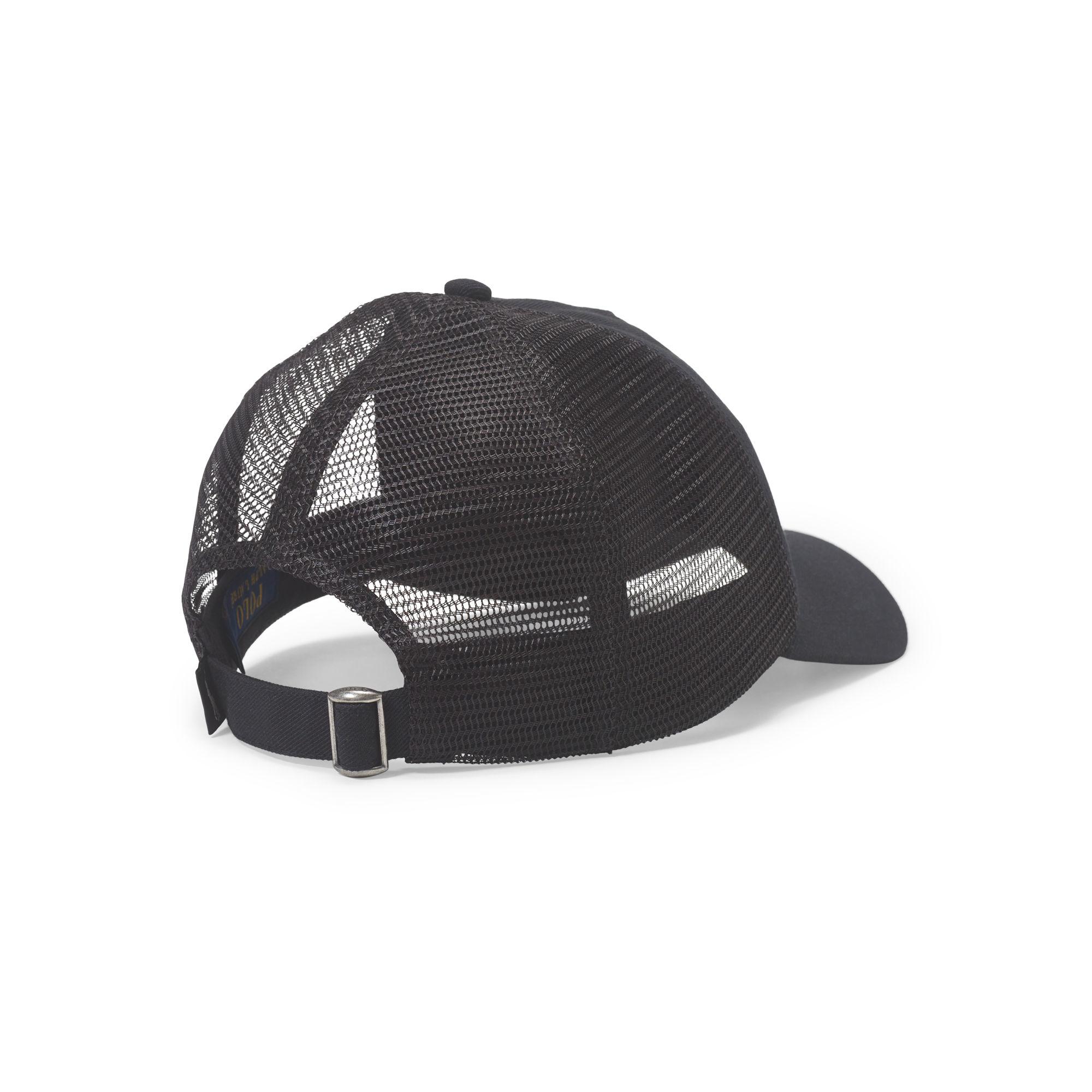 Polo Ralph Lauren Sporty Mesh Trucker Hat in Black for Men - Lyst ceb7cbe20e5
