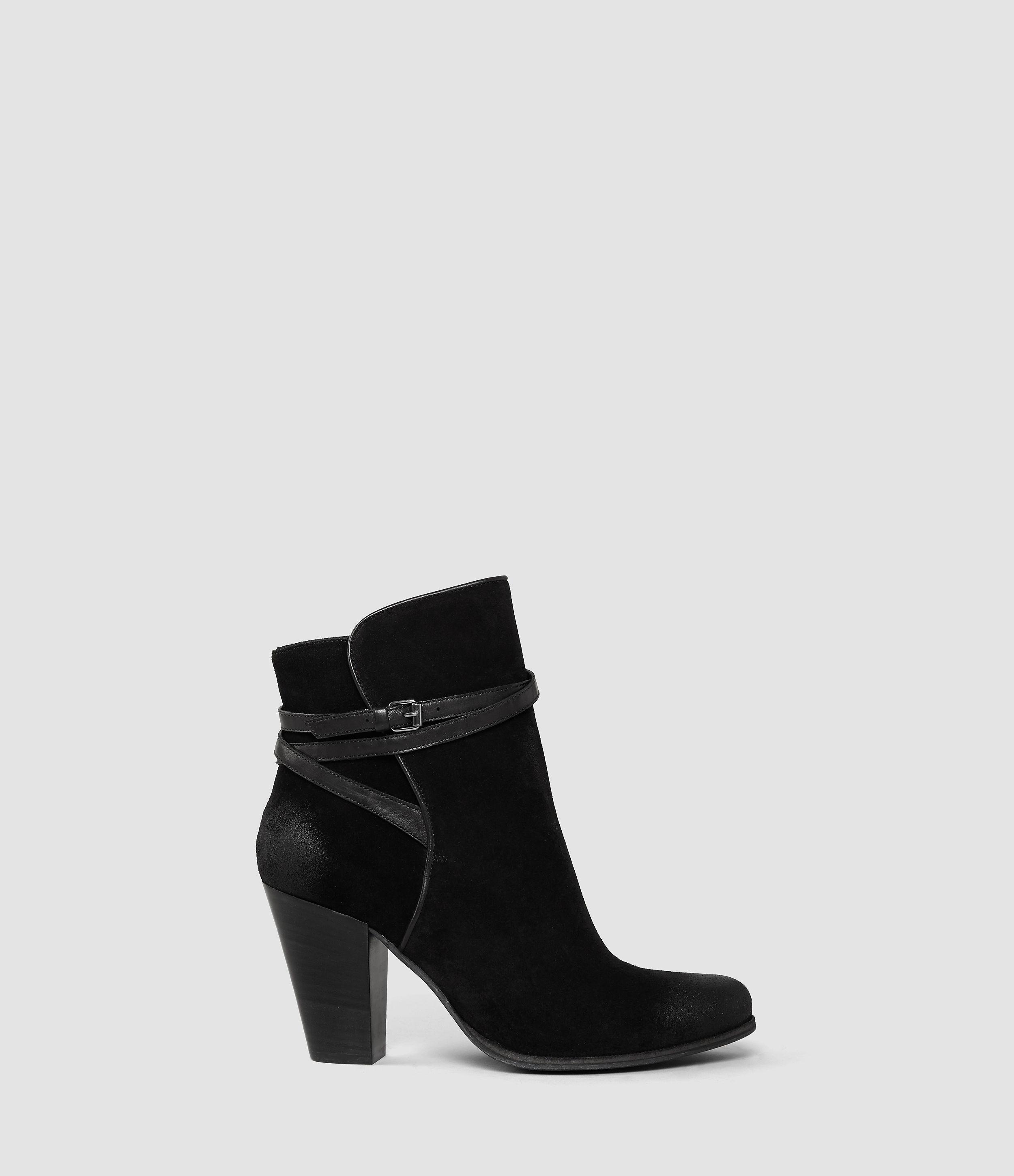 allsaints heel boot usa usa in black lyst