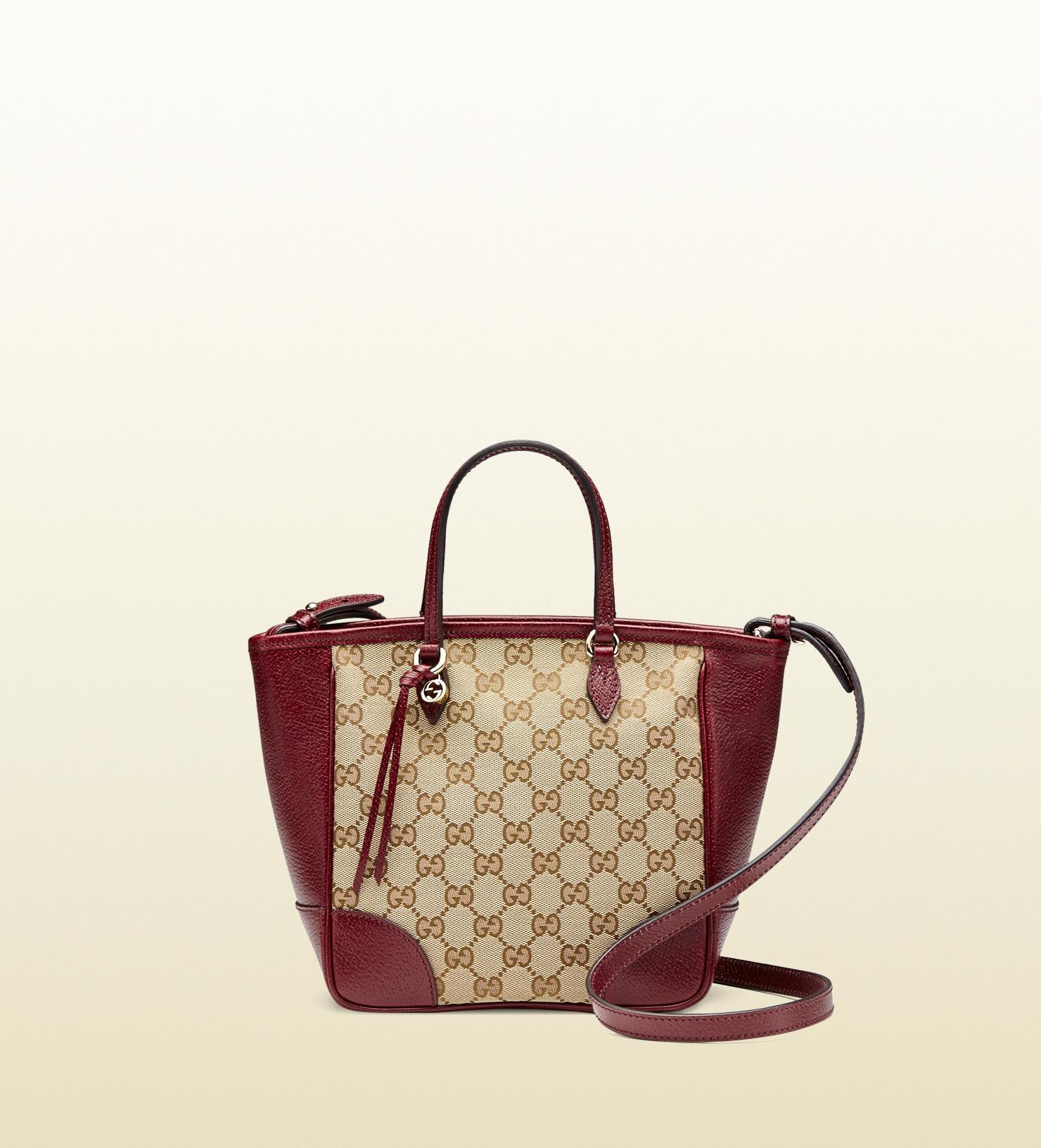 ac90da4d554 Gucci Canvas Top Handle Bag in Purple - Lyst