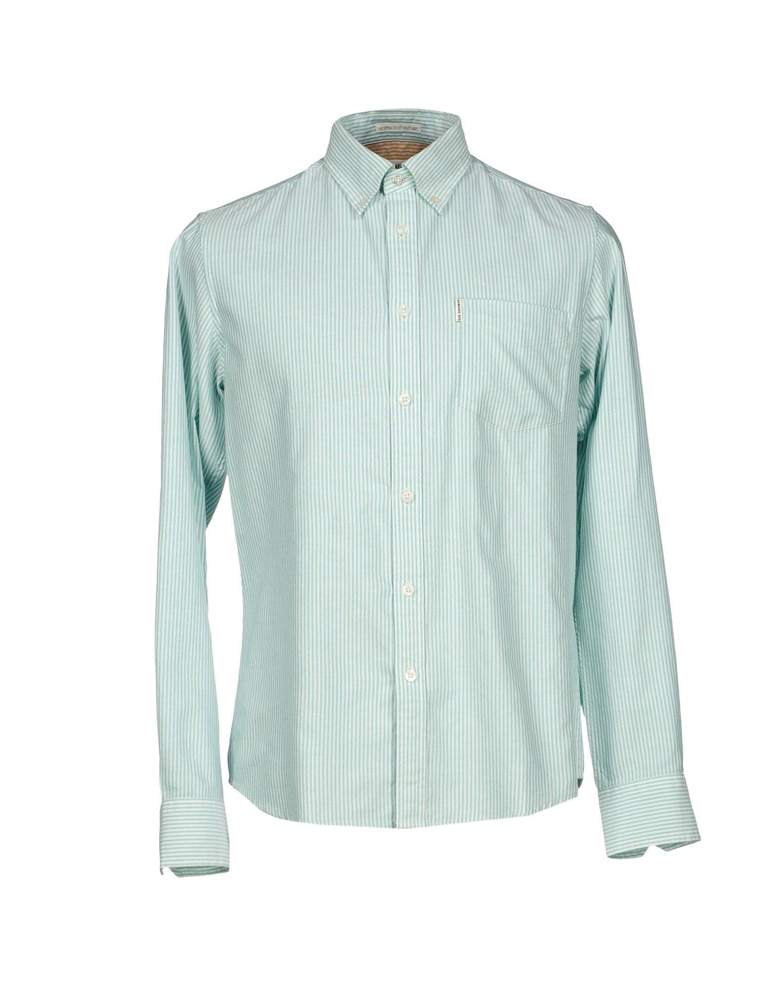 ben sherman shirt in green for men save 68 lyst