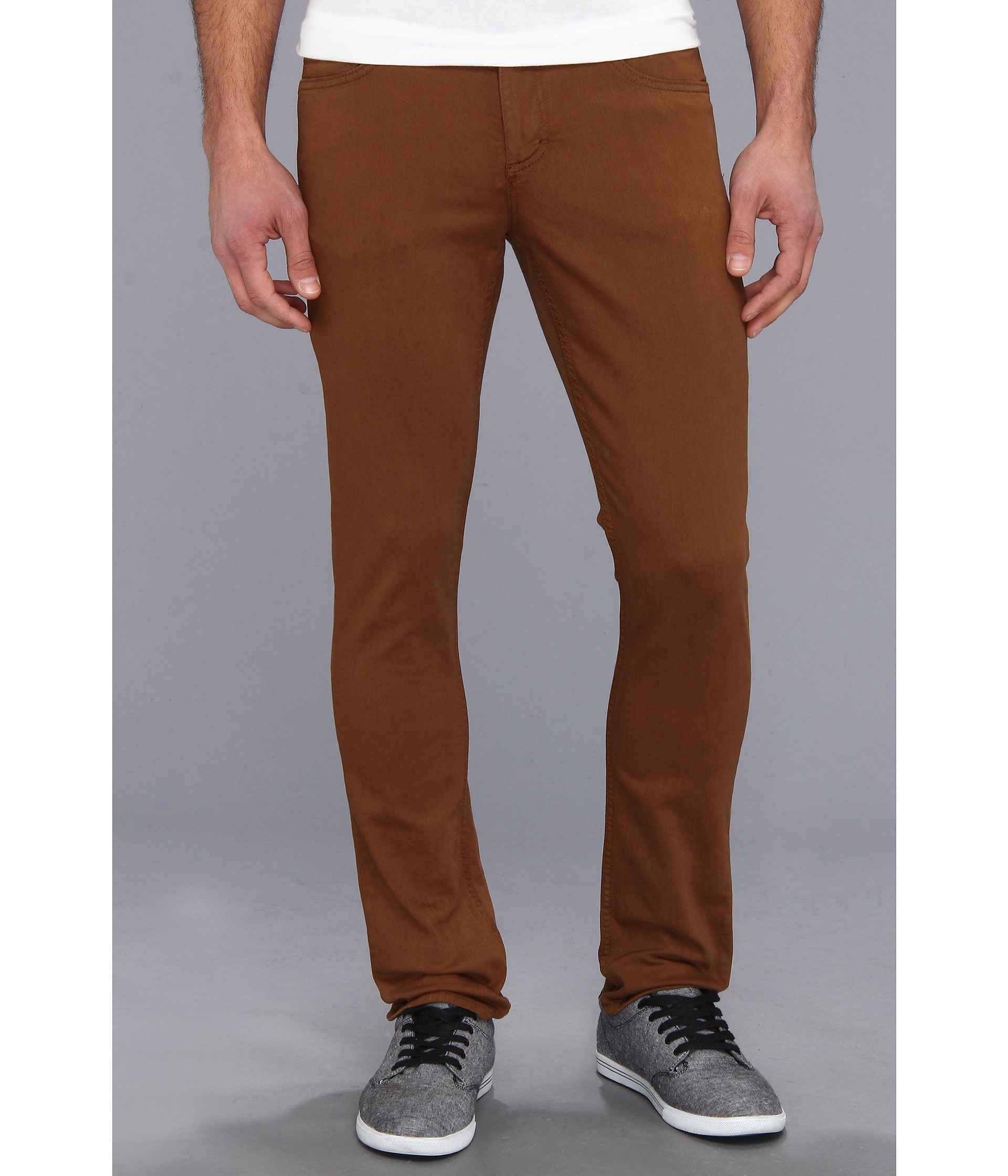 Vans V76 Skinny Colored Denim in Brown for Men | Lyst