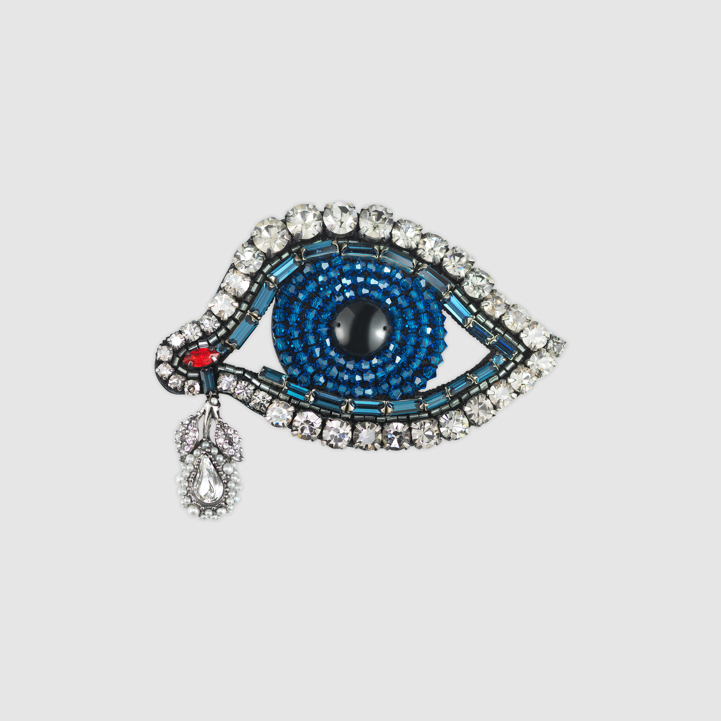 chanel product eye brooch red chloecouturefashions heart green silver pin blue i