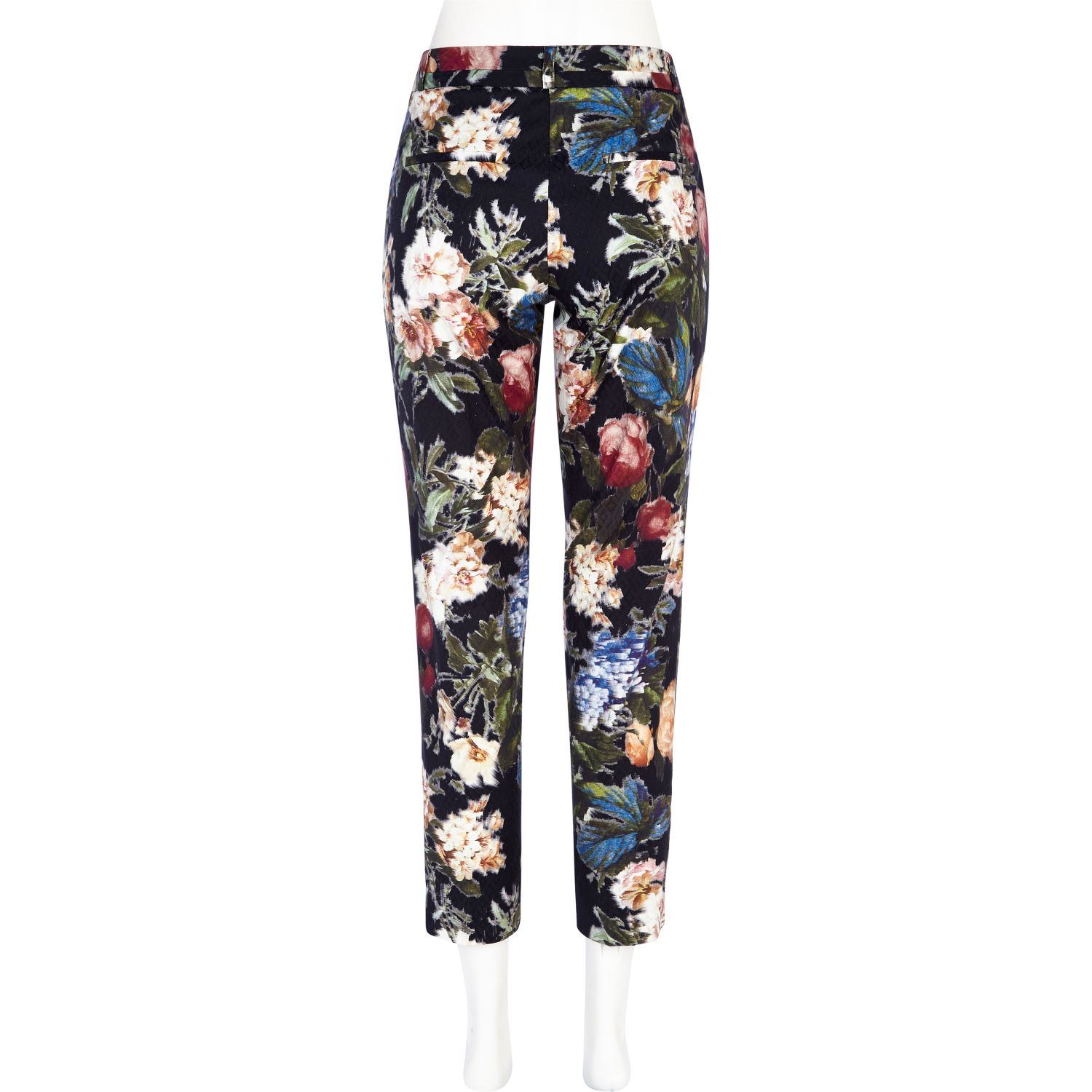 Available In Black Floral High-Rise Woven Fabric Waistband Waist Tie Detail Floral Print Fabric Straight Leg 2 Pockets 26
