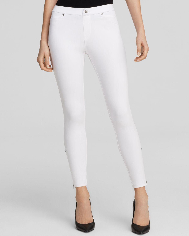 White Denim Leggings