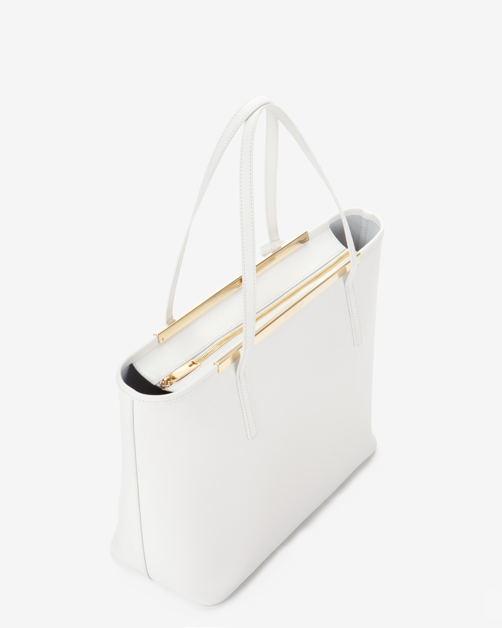 5fa8f0c7b8a2f ... Per Bag In White Lyst. White Leather Ted Baker Purse Best Image Ccdbb