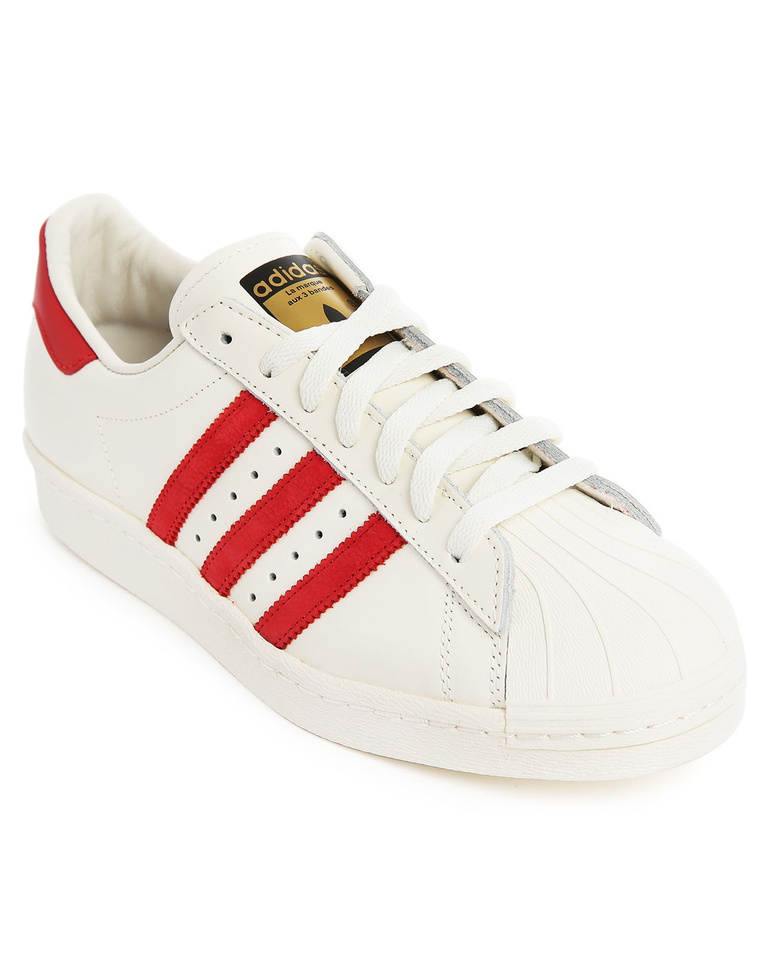 Adidas white and red superstar 80s deluxe in white for men lyst