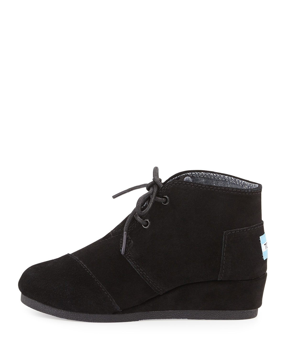 Toms Desert Suede Wedge Bootie In Black Lyst