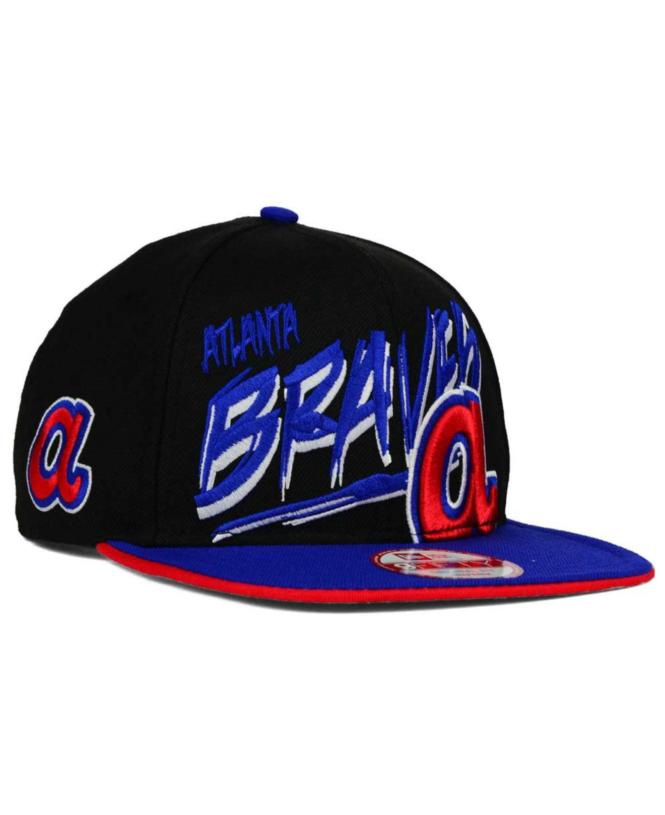 competitive price c517a ad5aa norway lyst ktz atlanta braves neon word scribbs 9fifty snapback cap in  4a439 e0b26