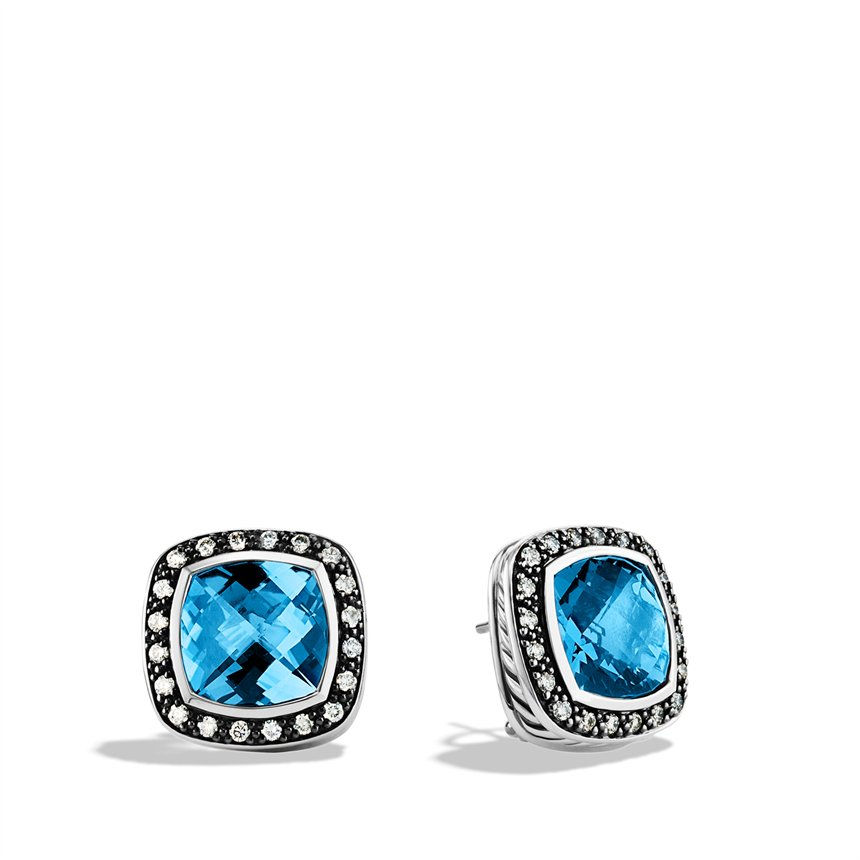 david yurman albion earrings with hton blue topaz and