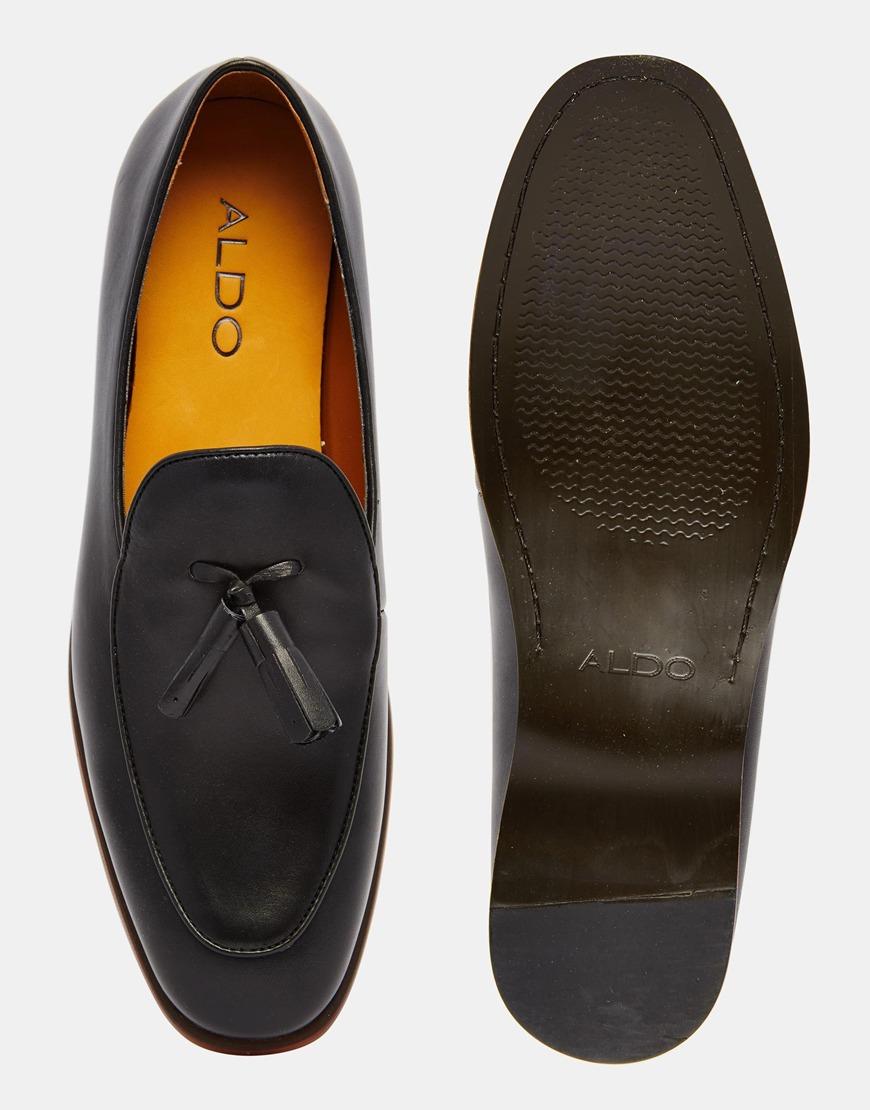 4a165dd24c5 Lyst - ALDO Miniera Leather Tassel Loafers in Black for Men