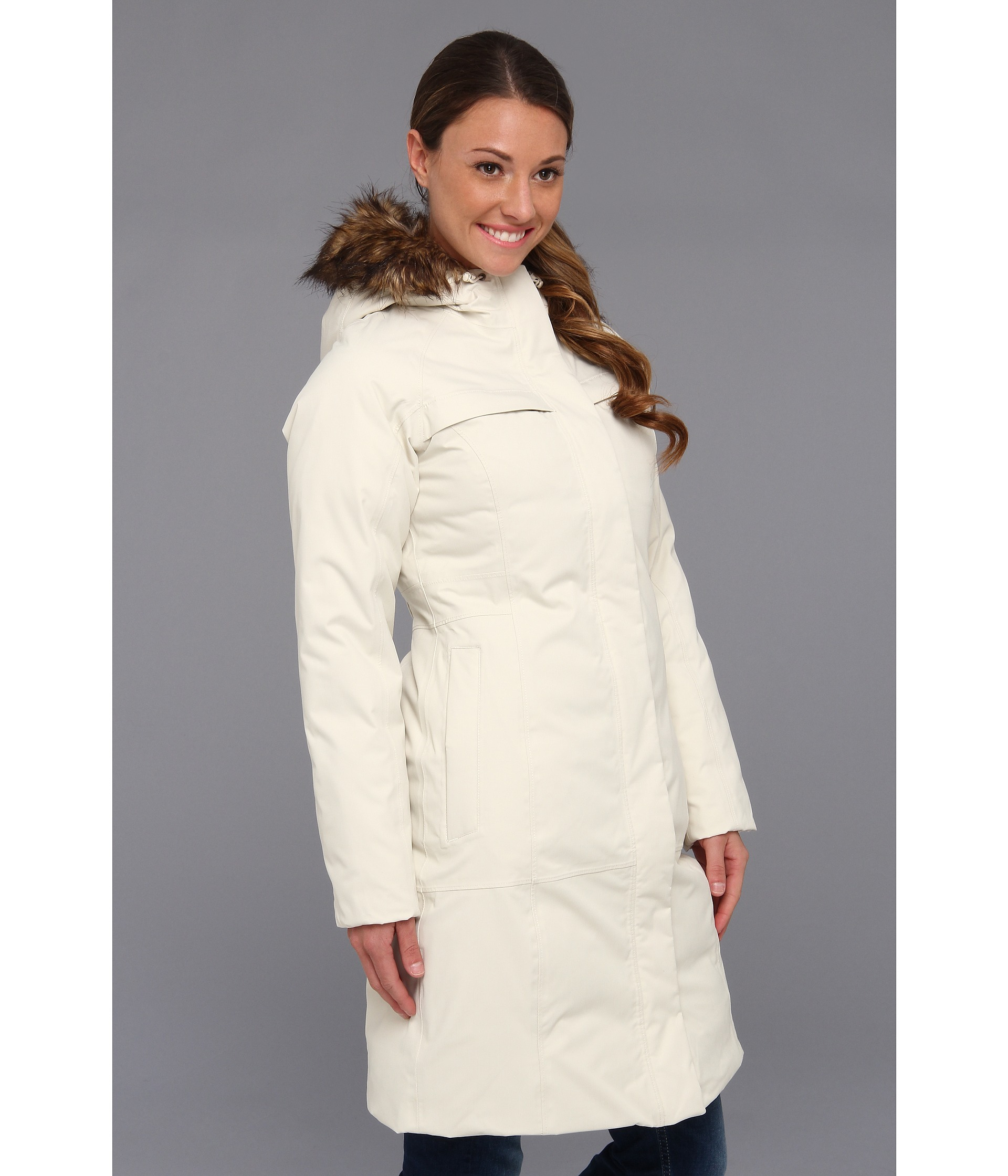 lyst the north face arctic parka in white. Black Bedroom Furniture Sets. Home Design Ideas