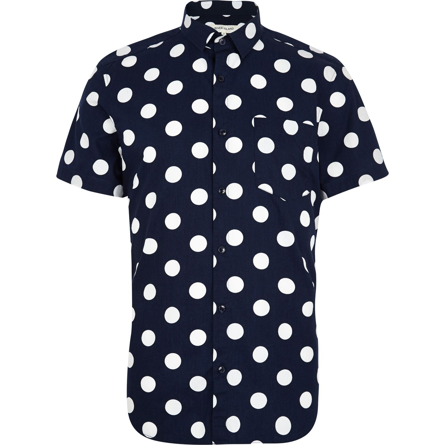Skirt & Bodice are Navy Blue with Large White Polka Dot Print Wintialy Women Shirt, Big Promotion! Women's Bell Sleeve Loose Polka Dot Shirt Ladies Casual Blouse Tops.