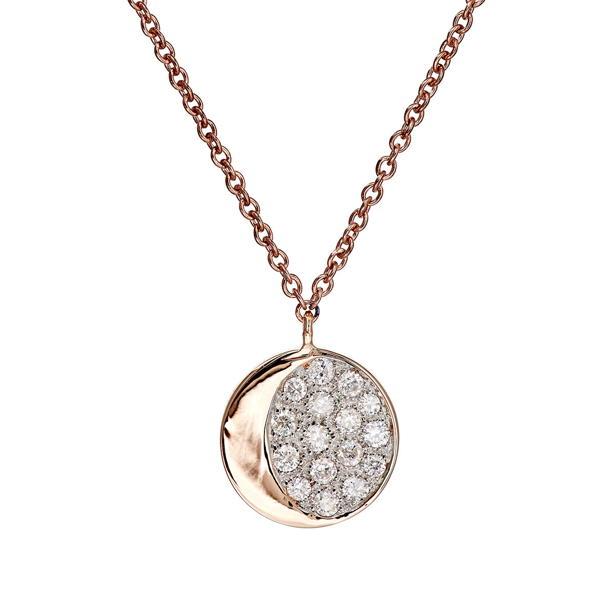 Pamela Love Womens Reversible Moon Phase Pendant Necklace OW85K