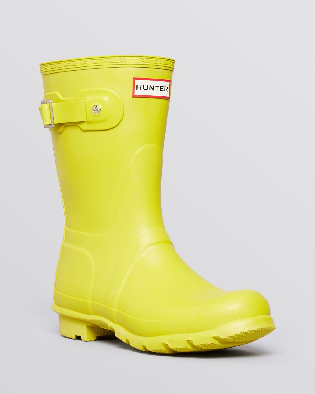 Hunter Women'S Original Short Rain Boots in Yellow | Lyst