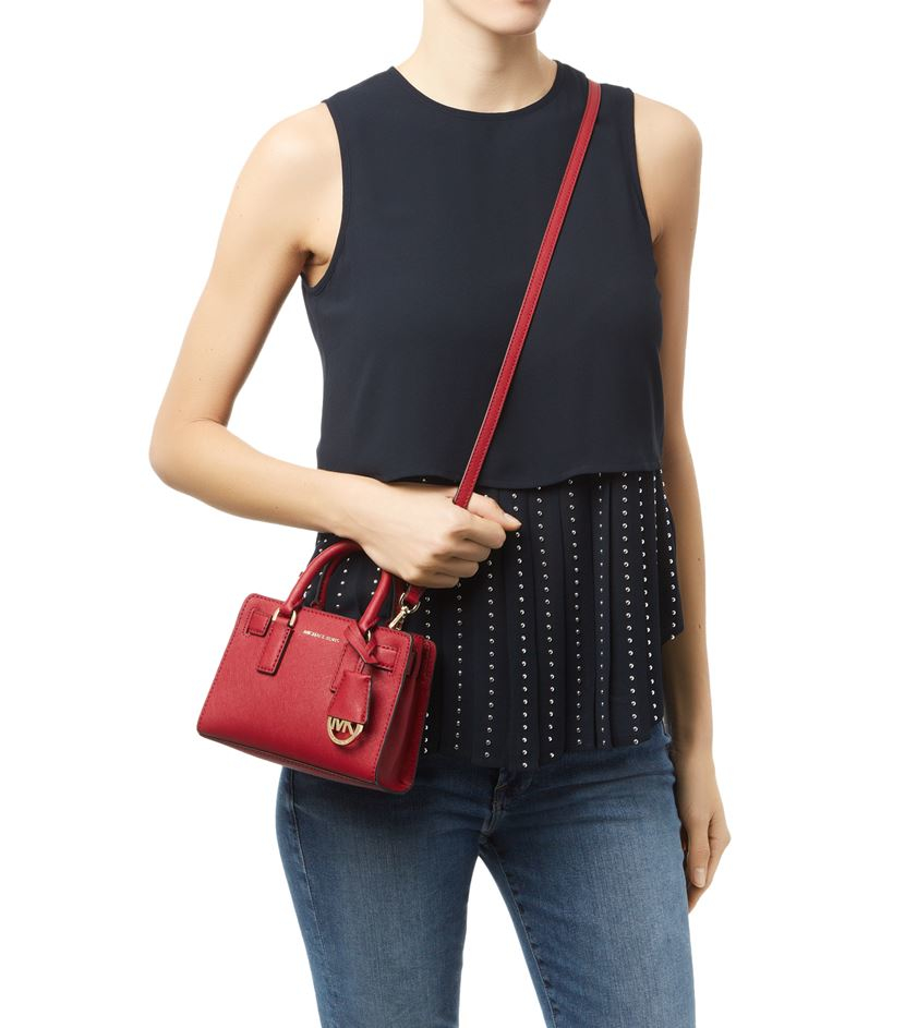 0165dc0780 MICHAEL Michael Kors Small Dillon Cross Body Bag in Red - Lyst