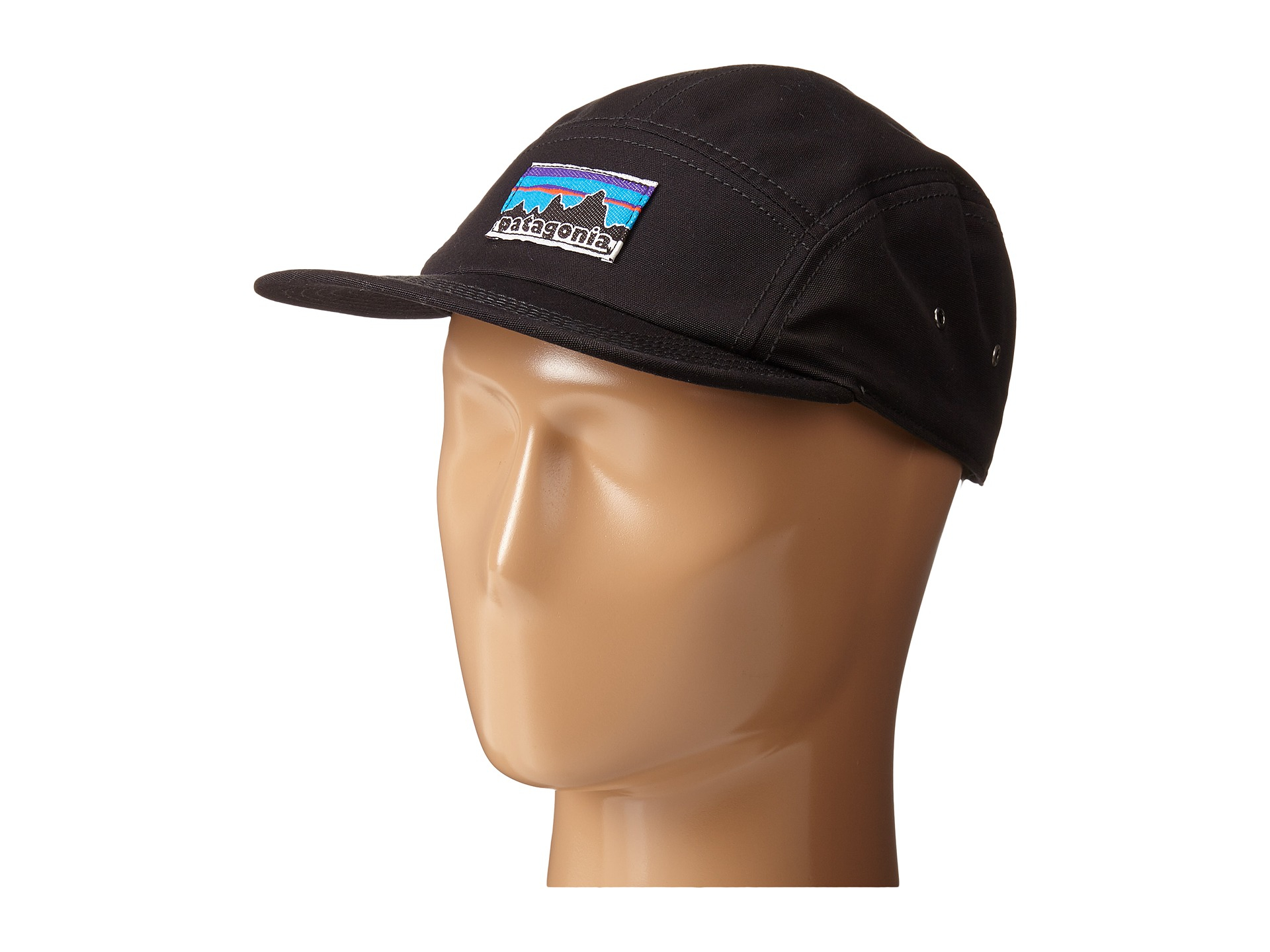 bfdcc11f Patagonia Retro Fitz Roy Label Tradesmith Cap in Black - Lyst