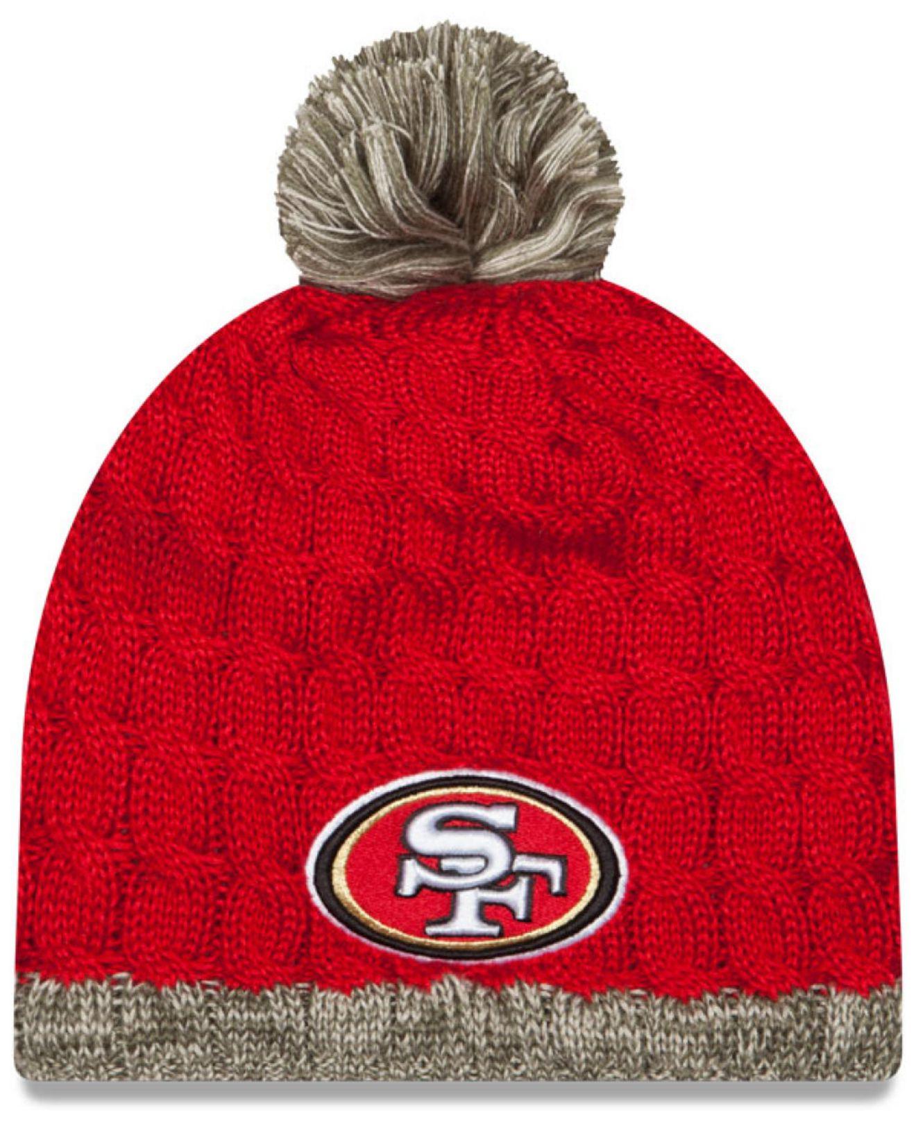 0bb1515cf Lyst - KTZ Women s San Francisco 49ers Salute To Service Knit Hat in ...