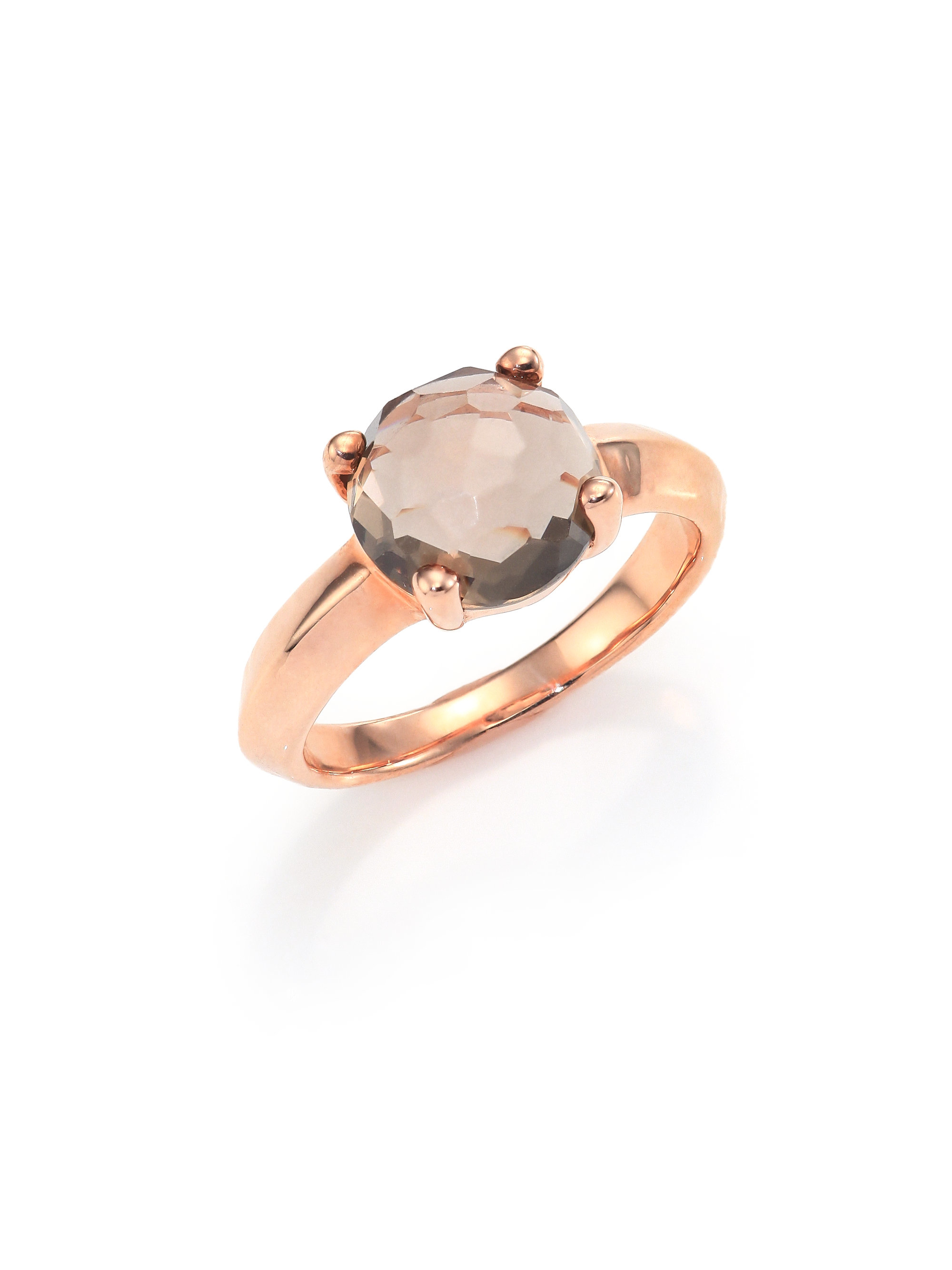 cocktail quartz rings gold pink collections courage ring statement rose