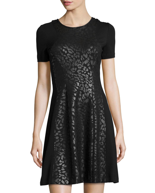 Catherine Malandrino Chris Short Sleeve Fit Amp Flare Dress