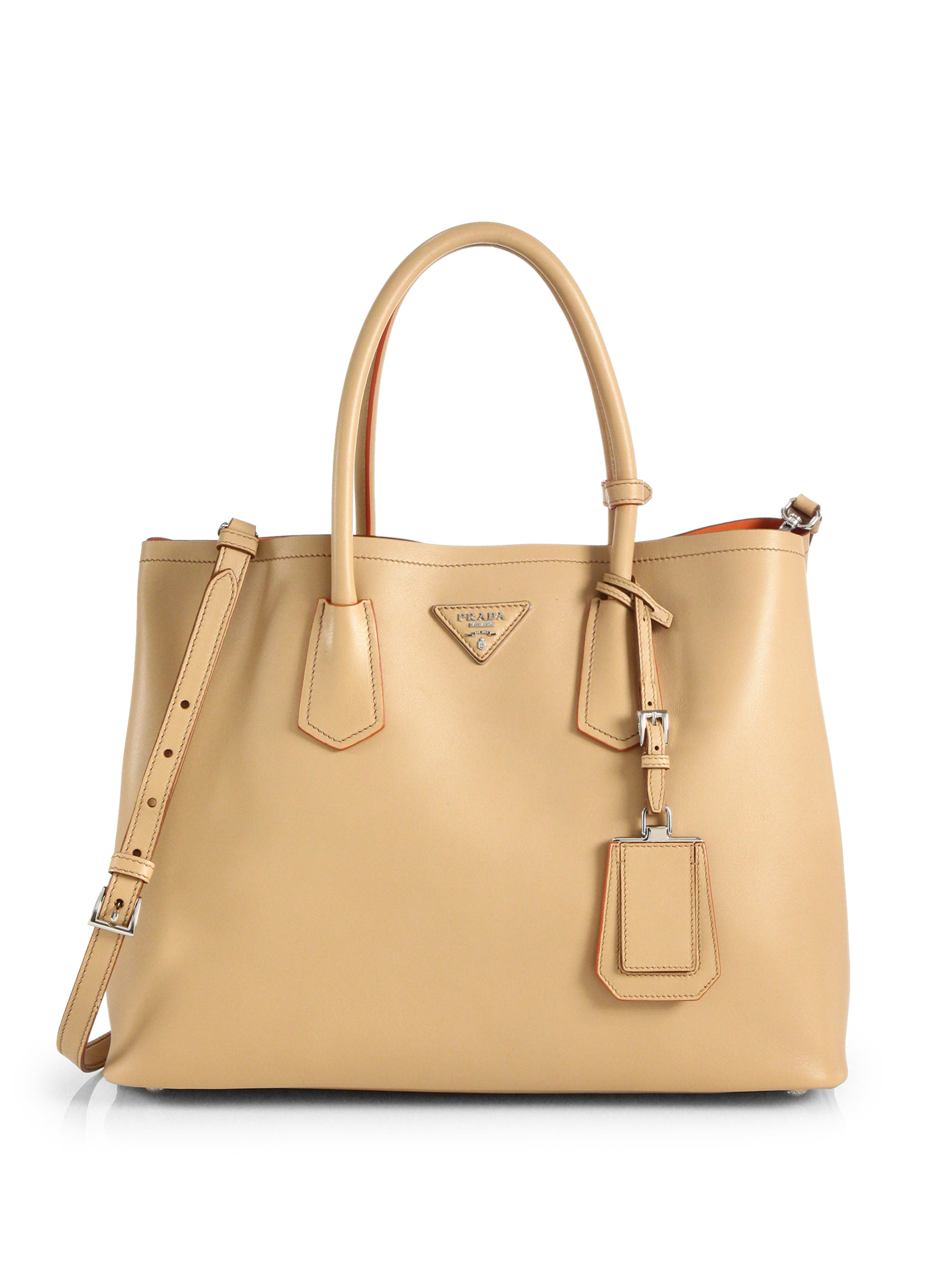 cheap prada wallets - Prada City Calf Medium Double Bag in Beige (NOCCIOLA-NUDE) | Lyst
