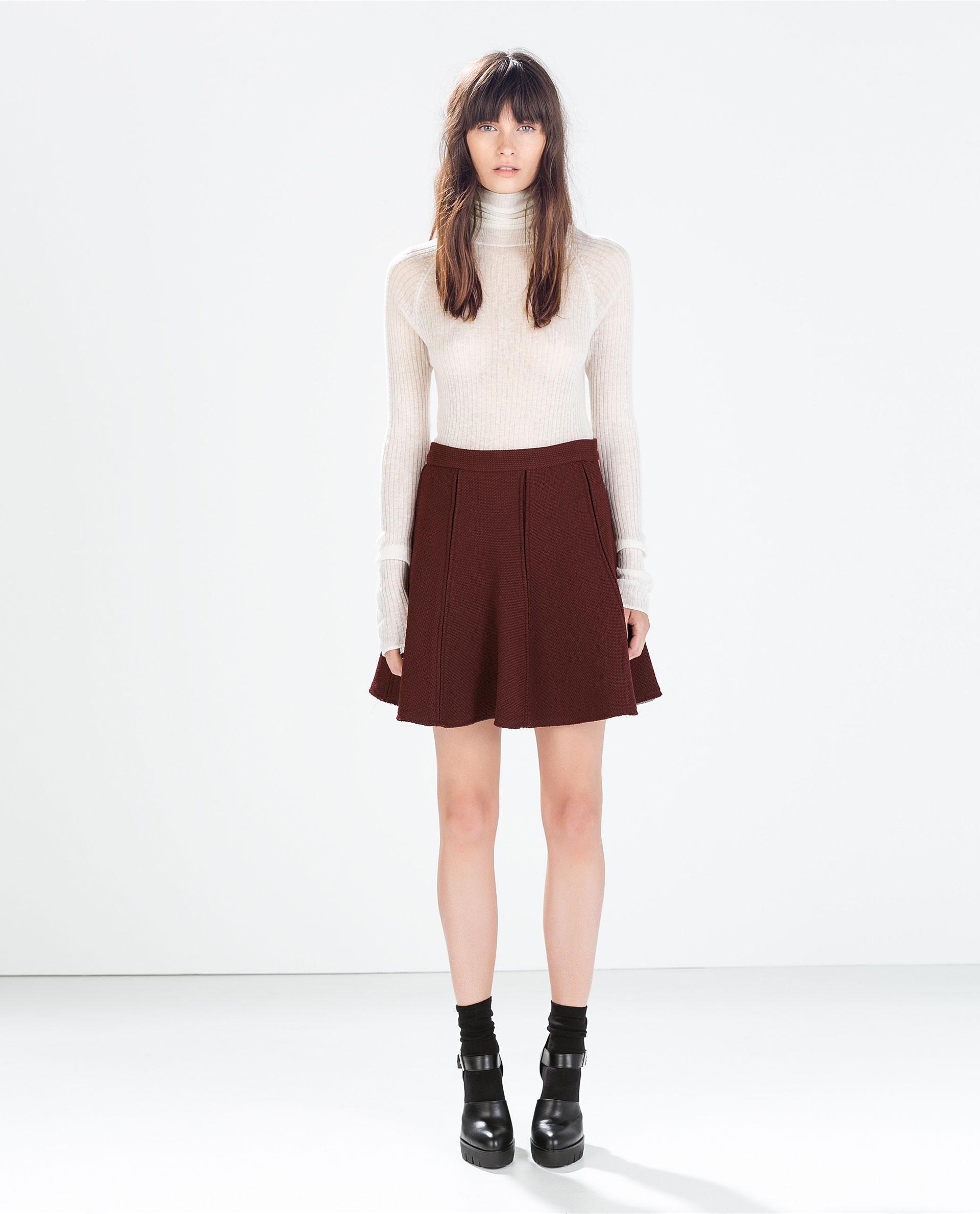 zara pleated mini skirt in lyst