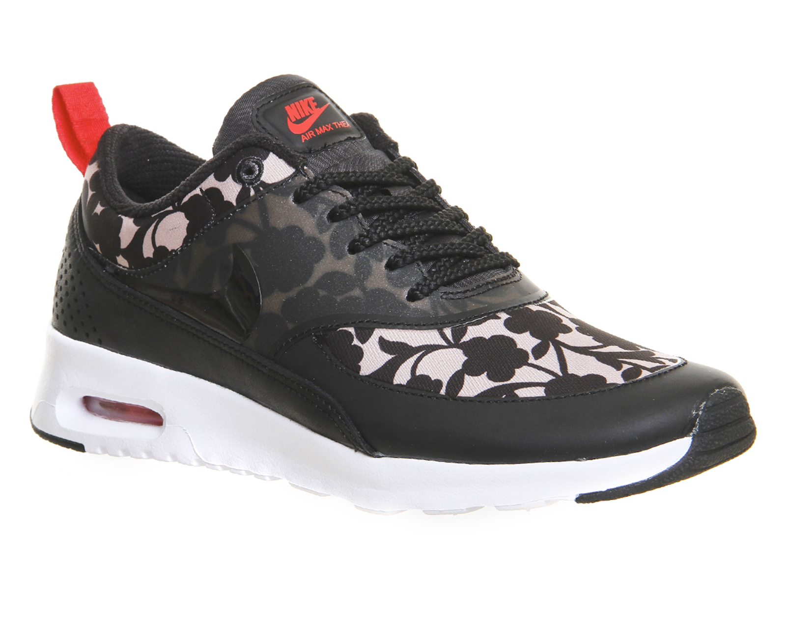 nike air max thea floral print low top sneakers in brown. Black Bedroom Furniture Sets. Home Design Ideas