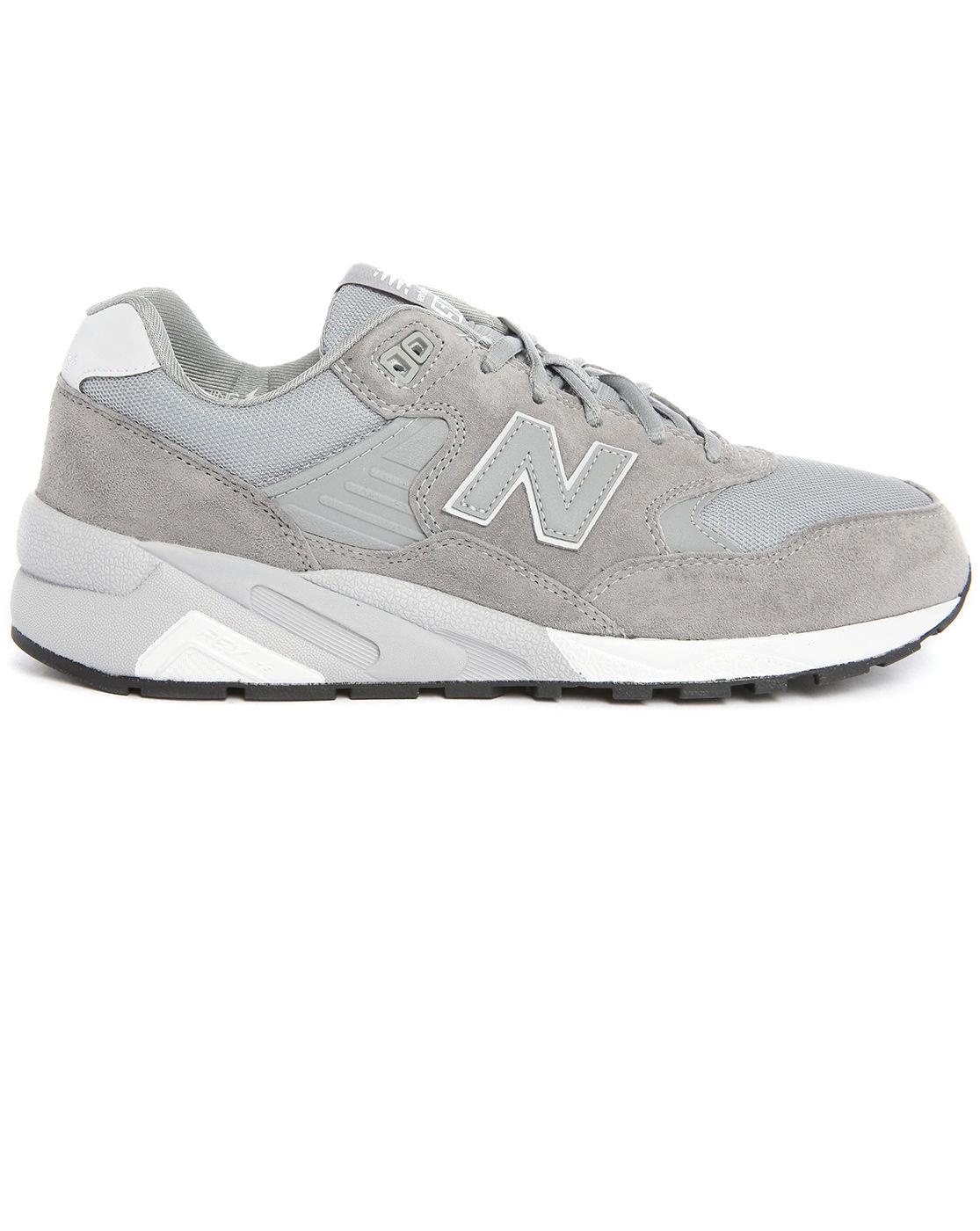 new balance 580 grey trainers khaki