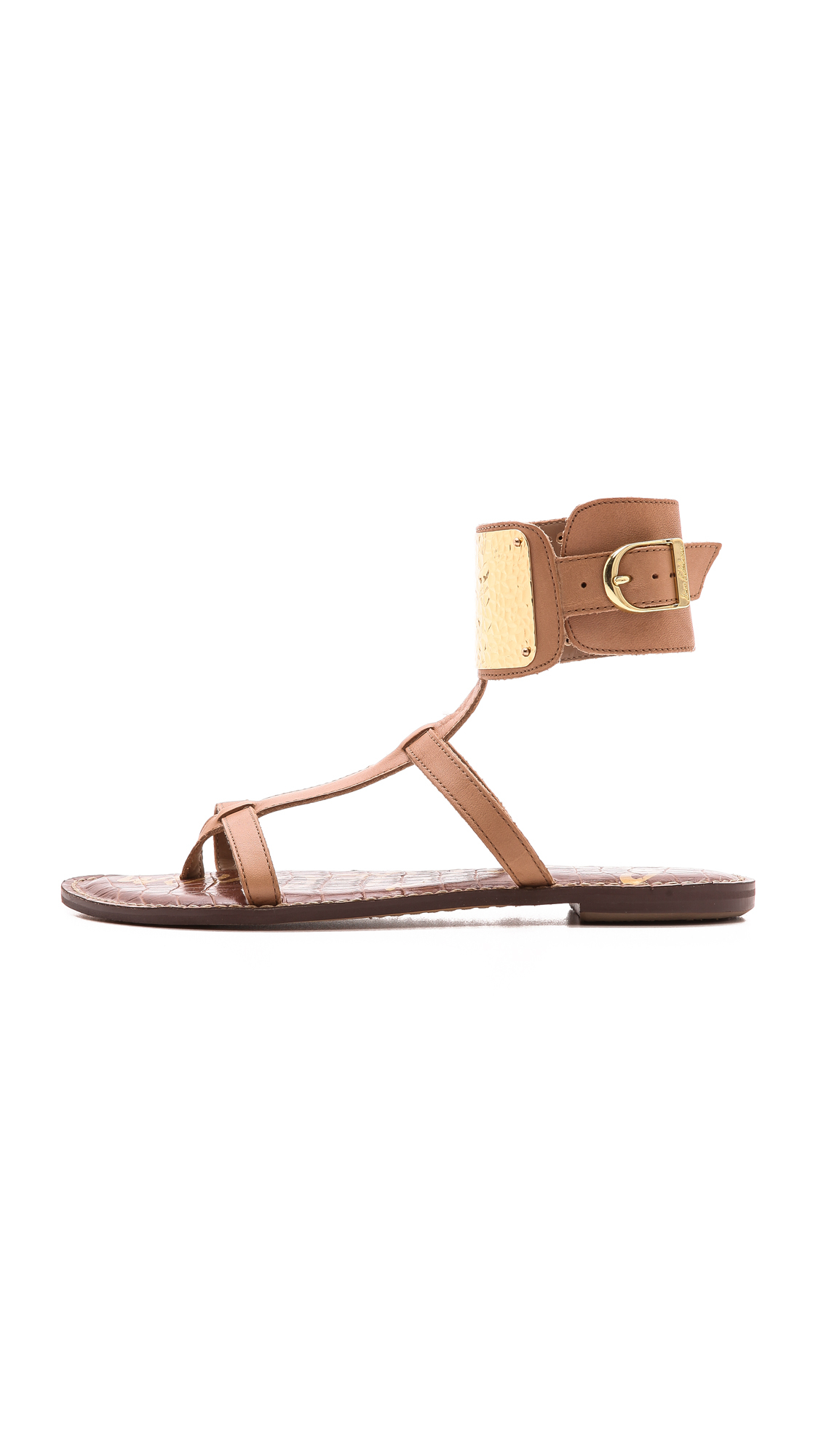 a483b4c2c4c6 Lyst - Sam Edelman Genette Ankle Cuff Sandals Classic Nude in Brown