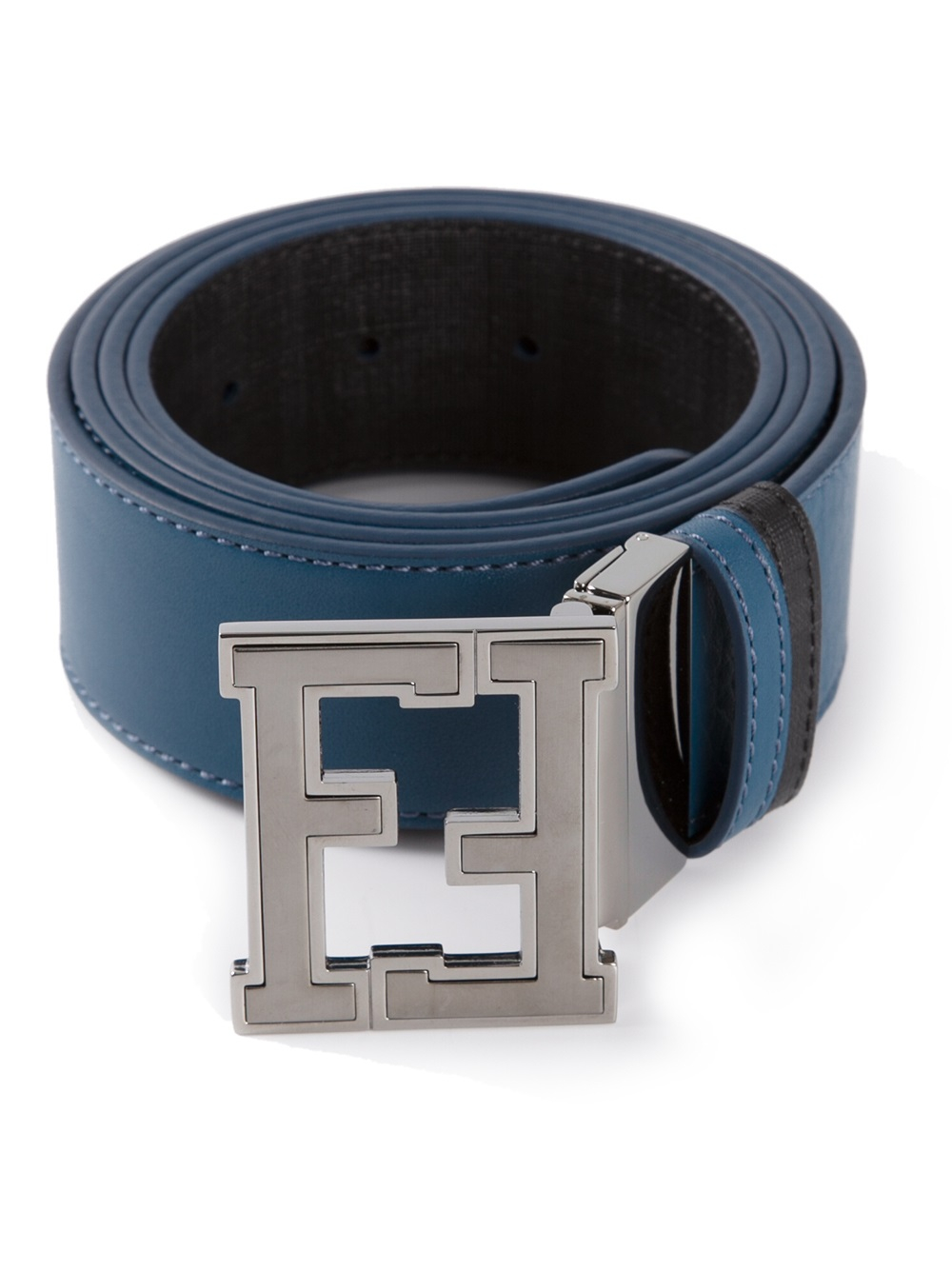 Lyst - Fendi Branded Buckle Belt in Blue for Men