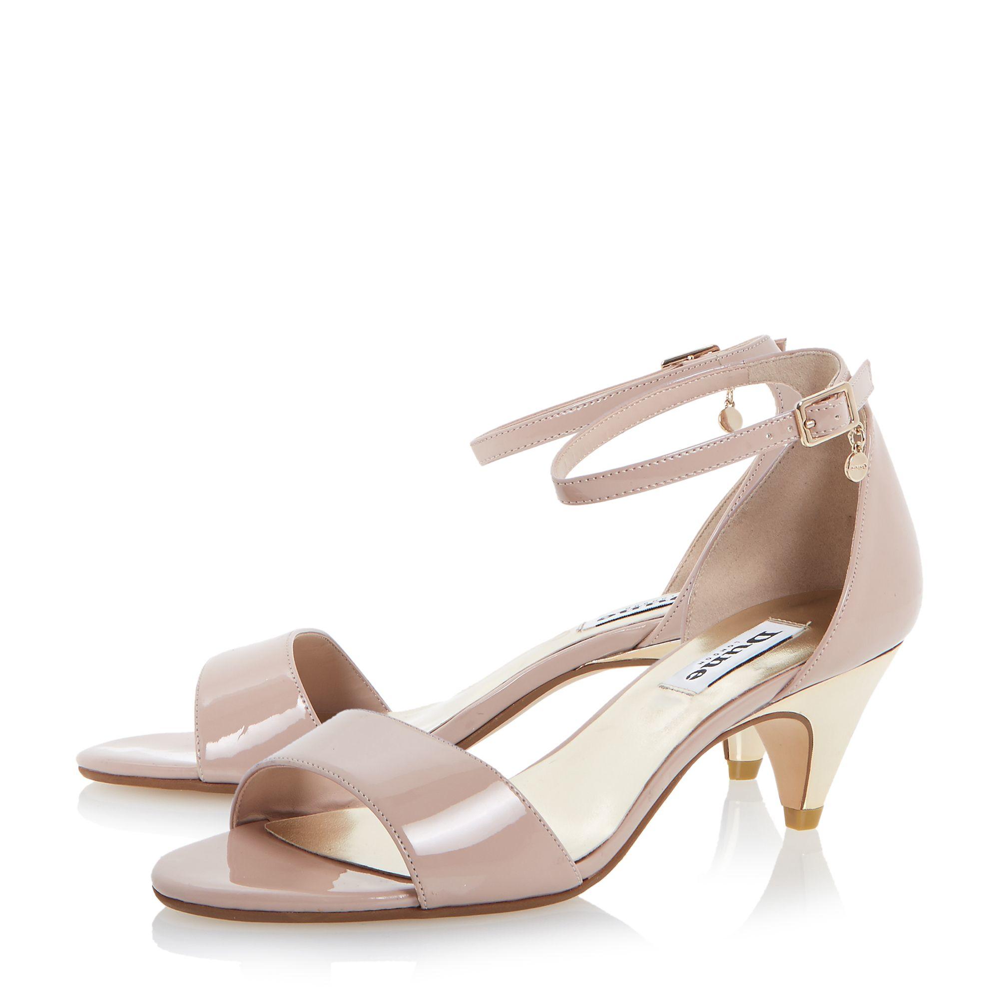 Dune Marina Two Part Kitten Heel Sandals in Pink | Lyst