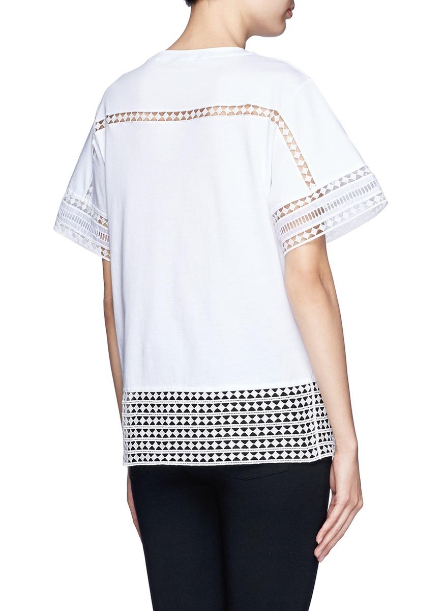 lyst chlo diamond lace silk organza under layer t shirt