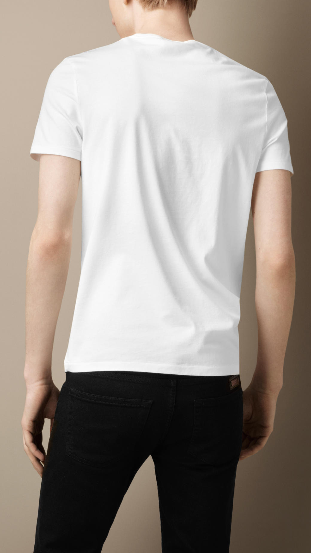Burberry liquid soft cotton tshirt in white for men lyst for Soft cotton dress shirts