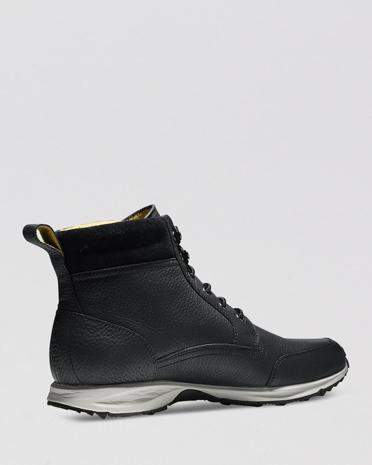 cole haan branson sneaker boots in black for lyst