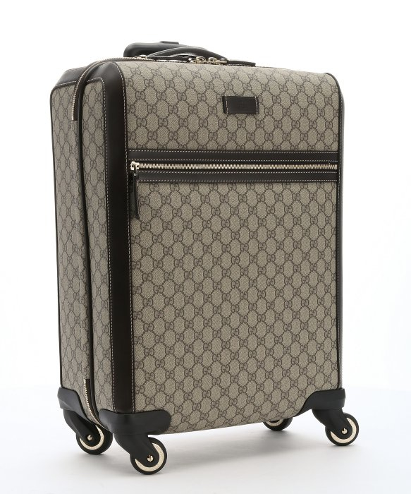 Gucci Brown Leather Trimmed Ebony Gg Supreme Canvas Carry-on ...