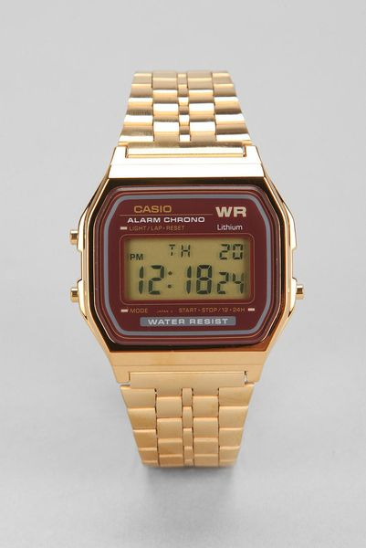casio classic gold in gold for lyst