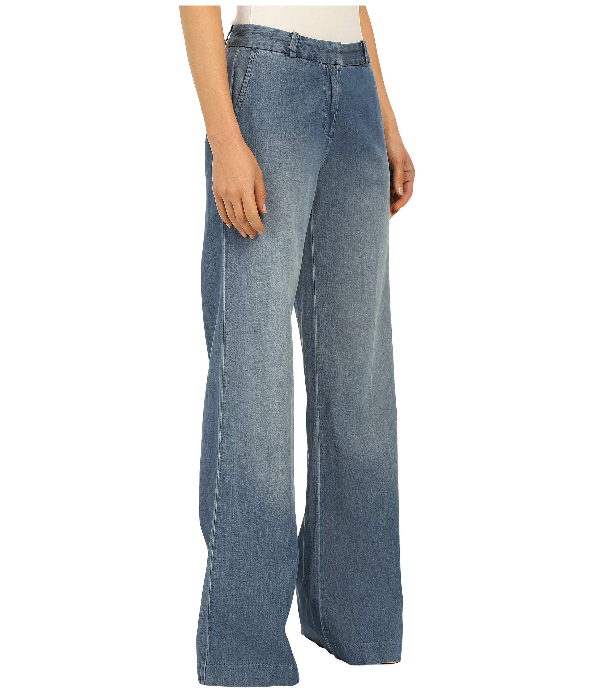 Michael michael kors Denim Soft Wide Leg In Veruschka Wash in Blue ...